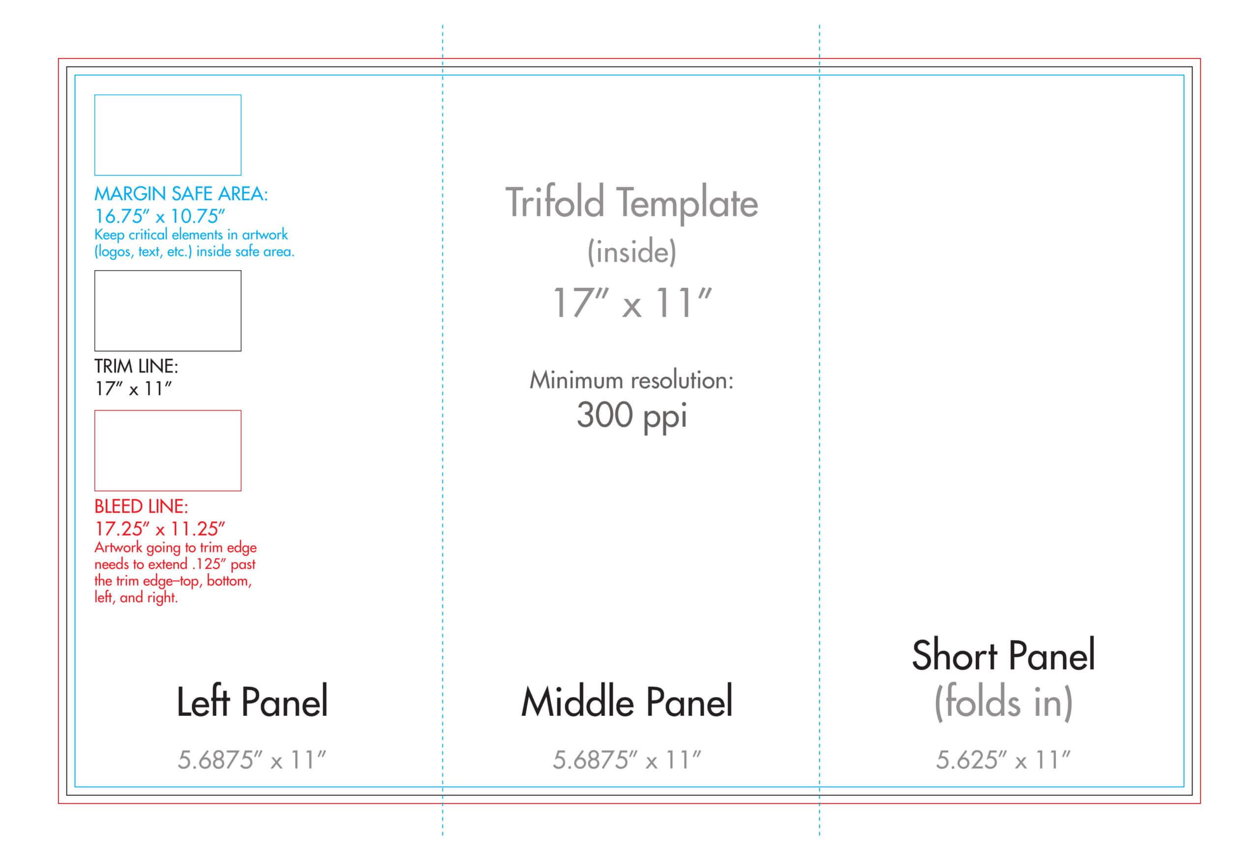 "11"" X 17"" Tri Fold Brochure Template - U.s. Press For 11X17 Brochure Template"