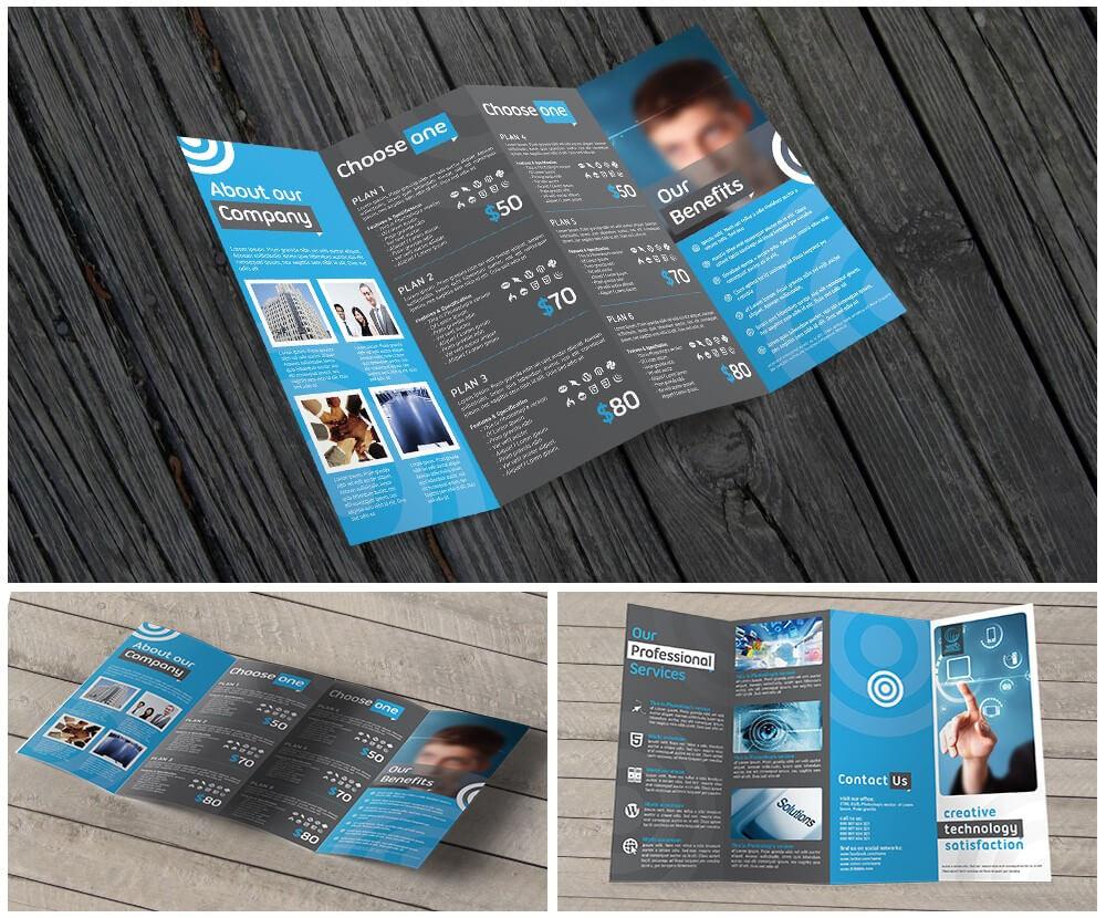 11X17 Quad Fold Brochure Printing With Regard To Quad Fold Brochure Template