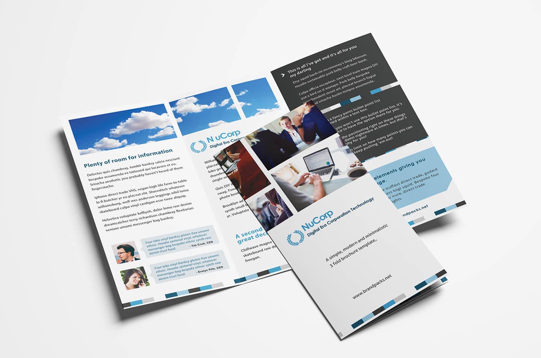 15 Free Tri Fold Brochure Templates In Psd & Vector - Brandpacks Within Adobe Illustrator Tri Fold Brochure Template