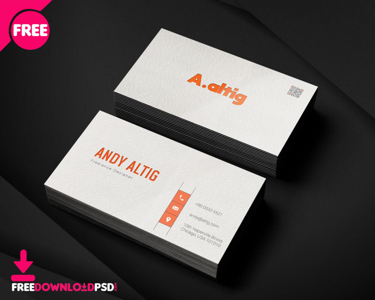 150+ Free Business Card Psd Templates In Freelance Business Card Template