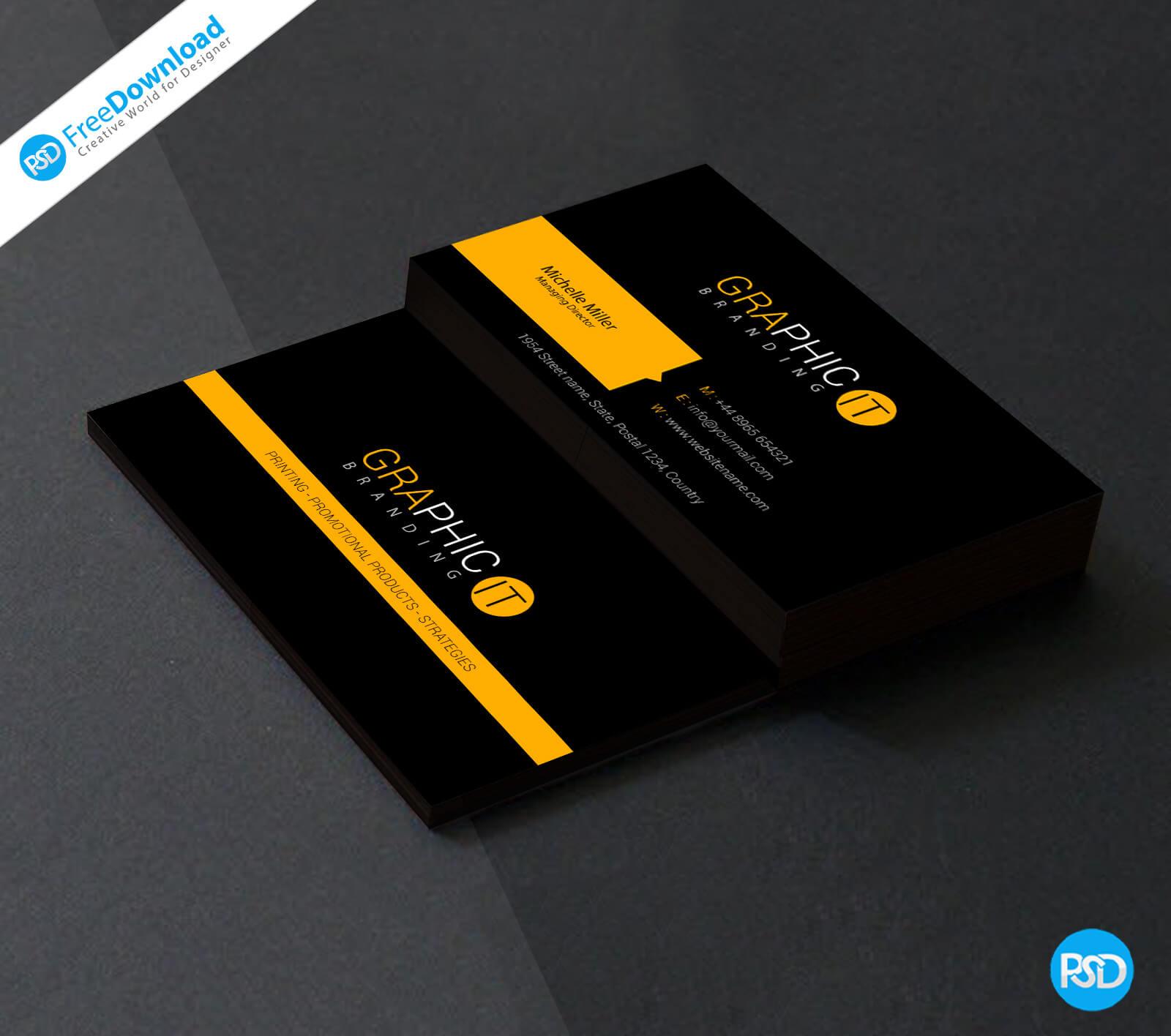 150+ Free Business Card Psd Templates Regarding Visiting Card Templates Psd Free Download
