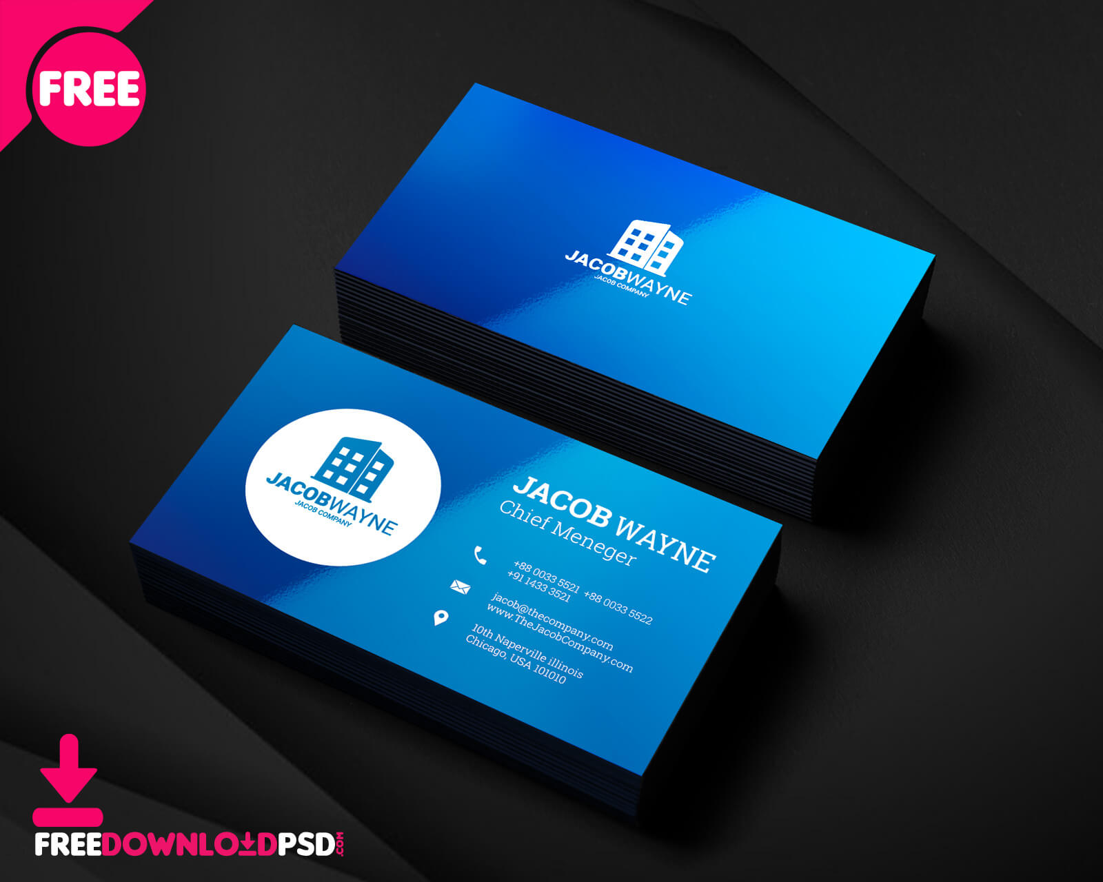 150+ Free Business Card Psd Templates Within Name Card Design Template Psd
