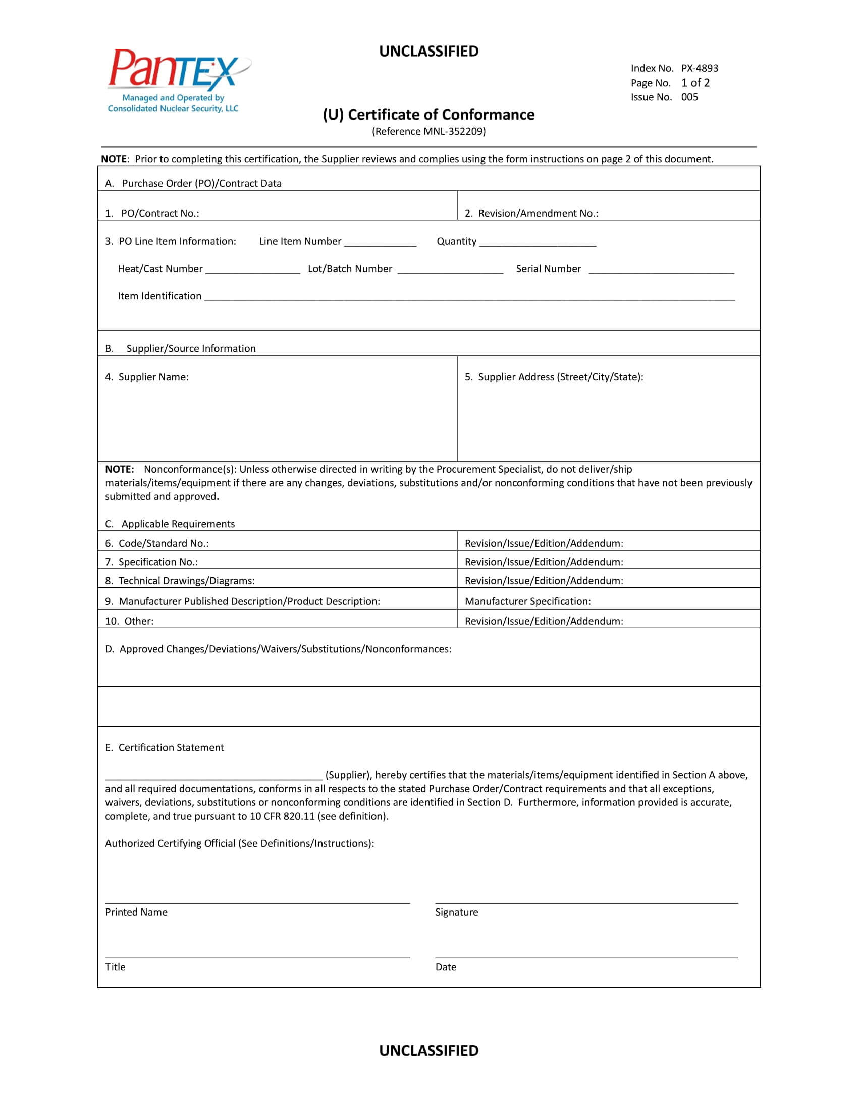 16+ Certificate Of Conformance Example – Pdf, Word, Ai With Regard To Certificate Of Compliance Template