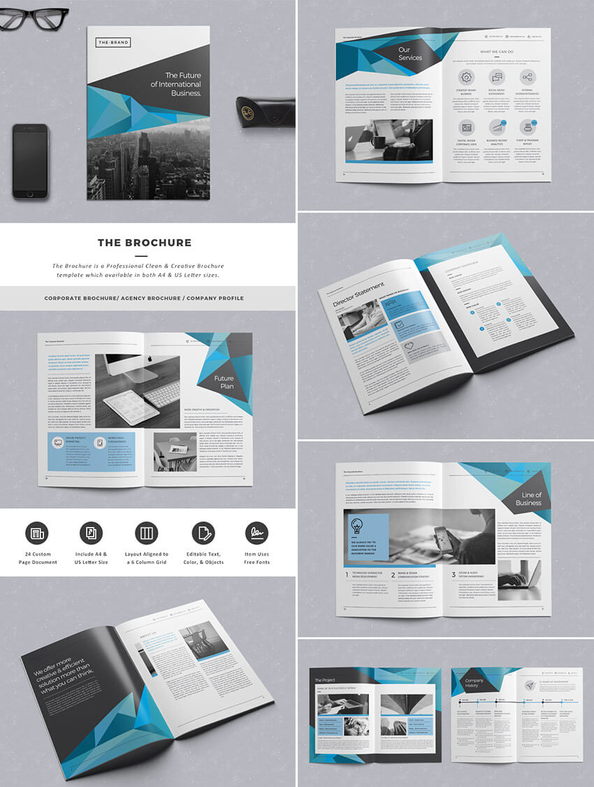 20 Кращих Шаблонів Indesign Brochure - Для Творчого In Brochure Template Indesign Free Download