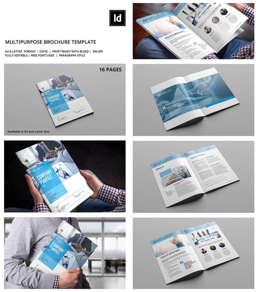20 Лучших Шаблонов Indesign Brochure – Для Творческого Regarding Brochure Templates Free Download Indesign