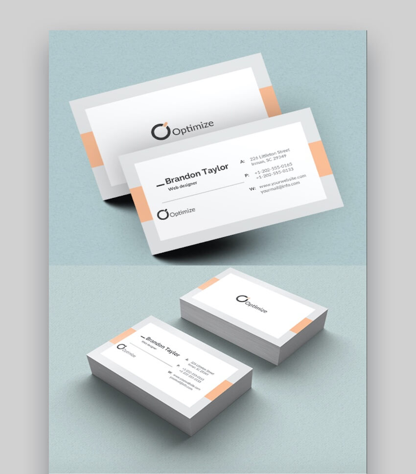 20+ Double Sided, Vertical Business Card Templates (Word, Or In 2 Sided Business Card Template Word