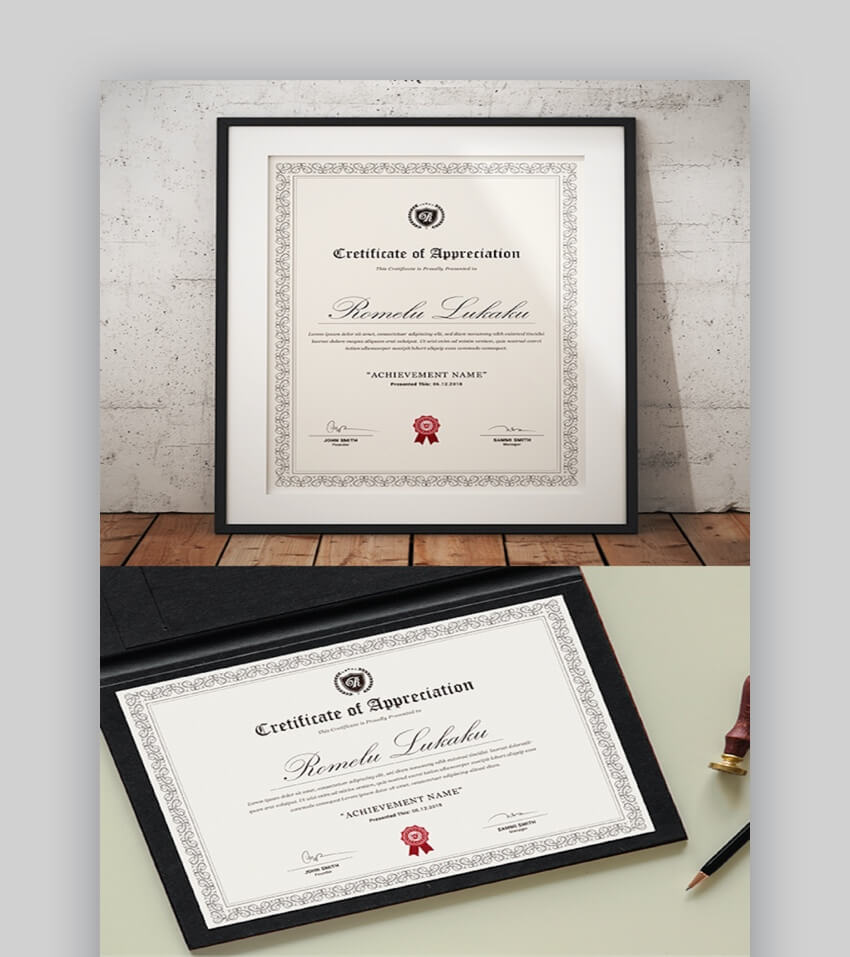 25+ Best Certificate Design Templates: Awards, Gifts Within Manager Of The Month Certificate Template