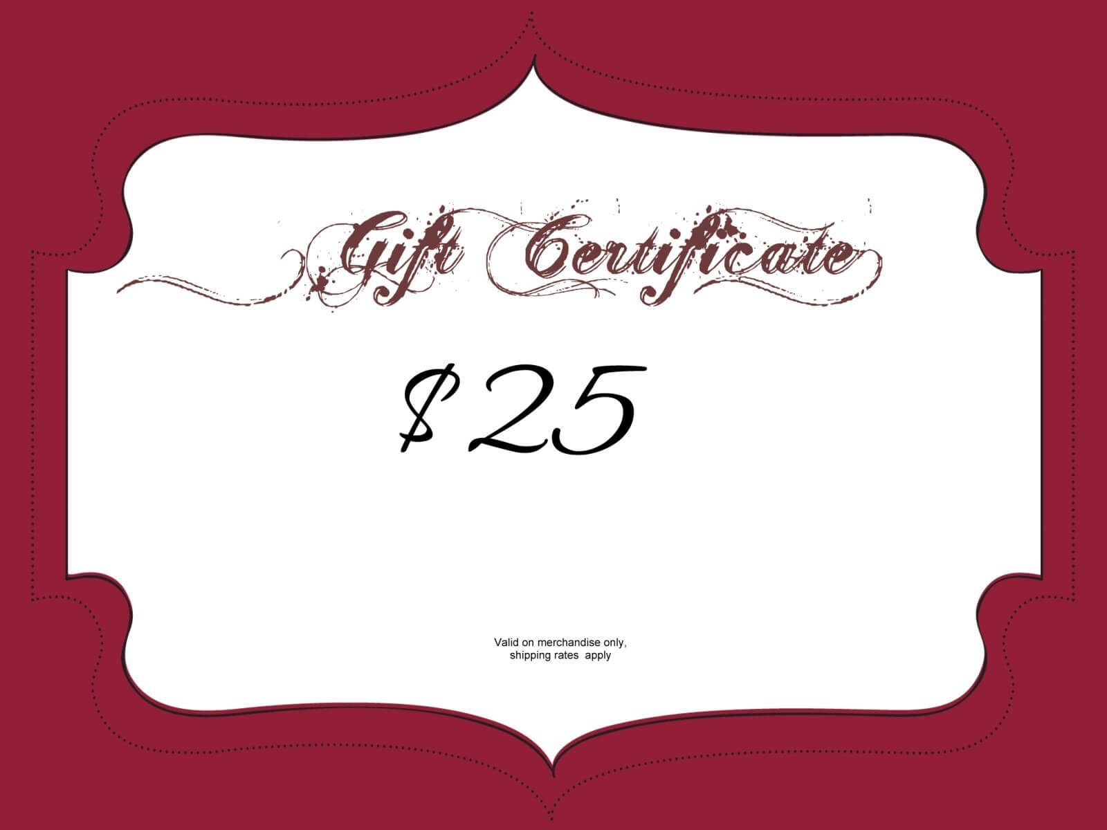 $25 Gift Certificate Template | Certificatetemplategift Regarding Mary Kay Gift Certificate Template