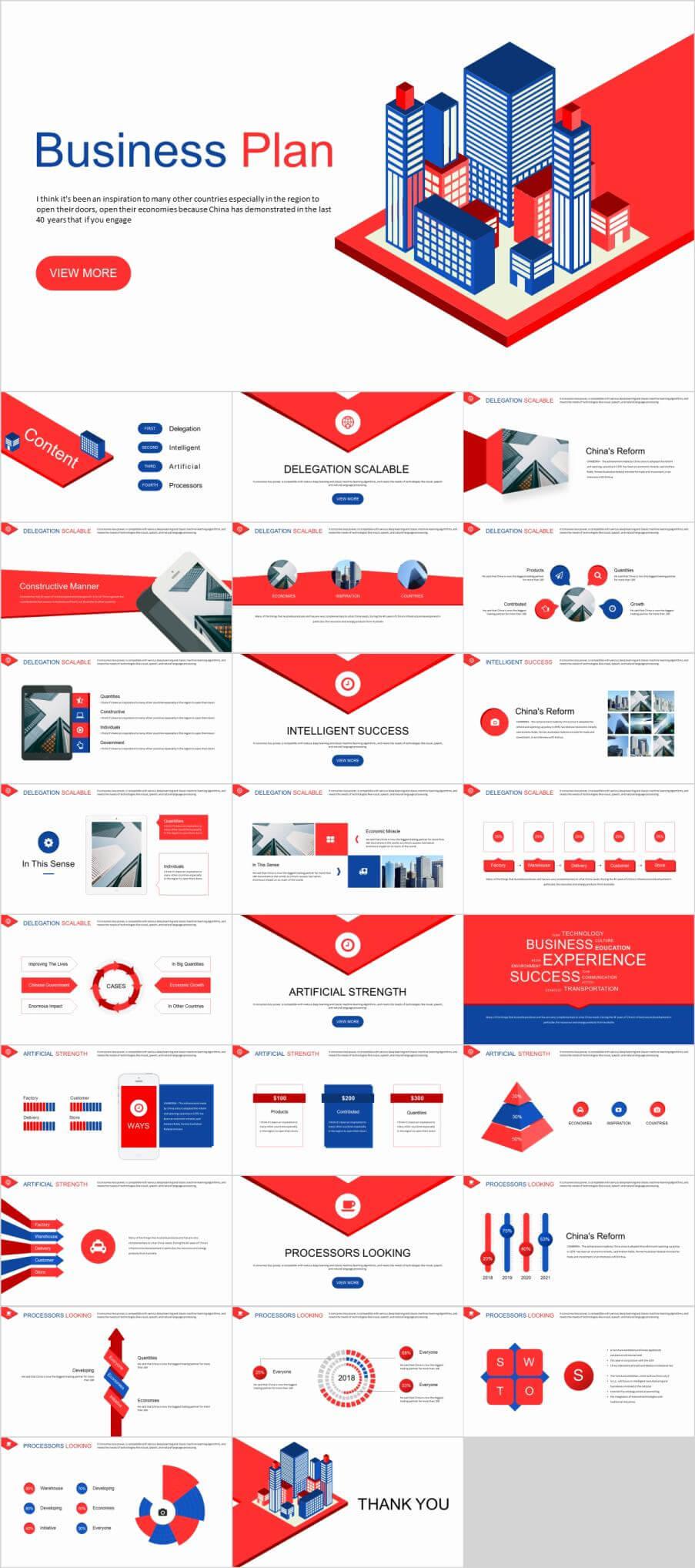 27+ Best Red Business Plan Powerpoint Template Inside Powerpoint Template Resolution