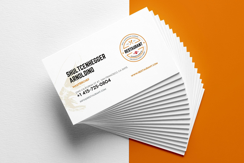 29+ Creative Restaurant Business Card Templates – Ai, Apple With Blank Business Card Template For Word