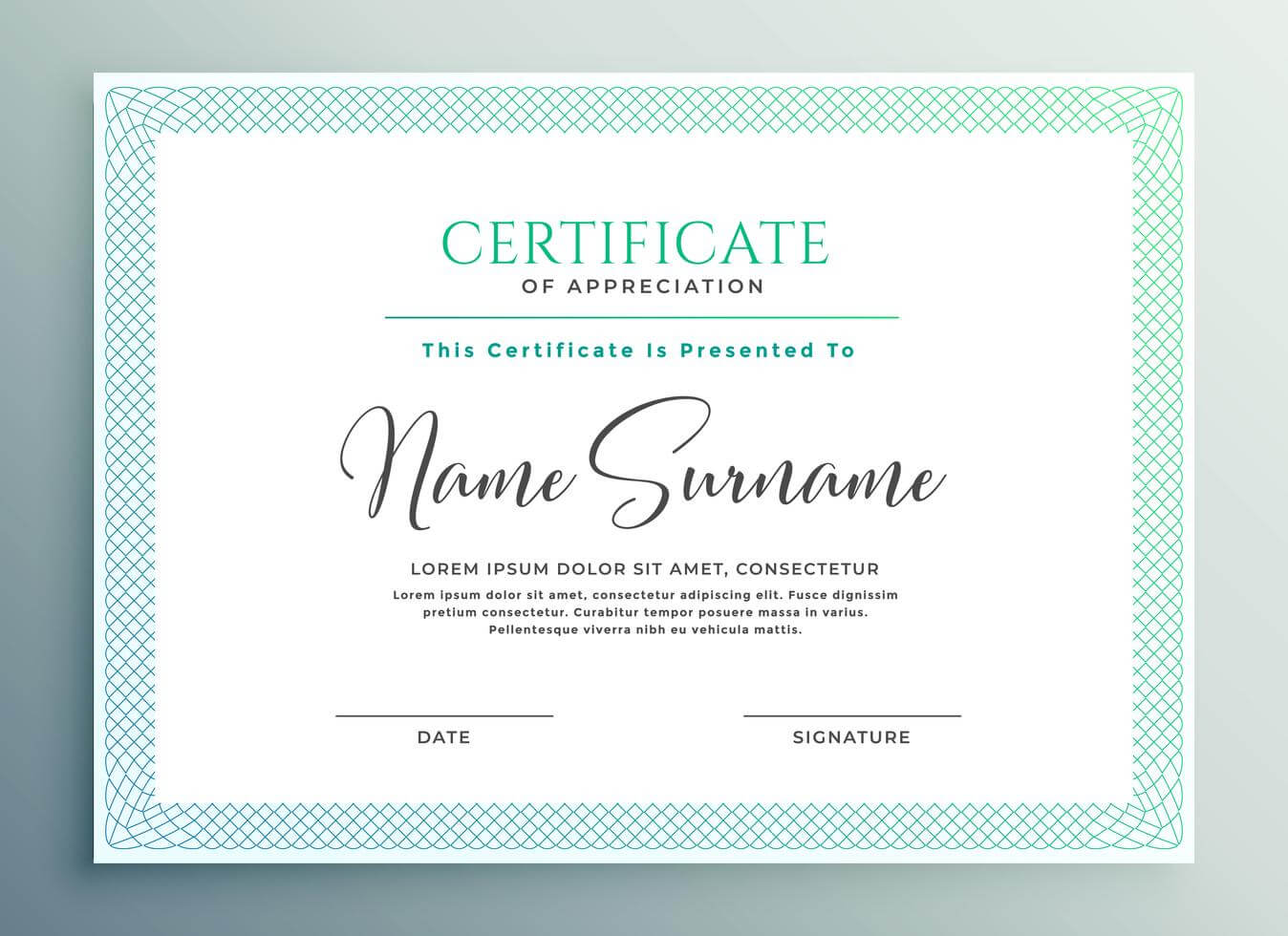 30+ Certificate Of Appreciation Download!!   Templates Study Pertaining To Volunteer Award Certificate Template