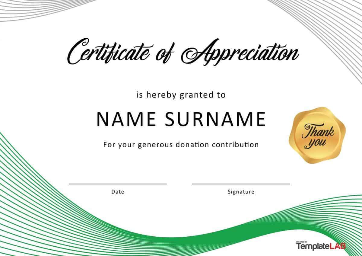 30 Free Certificate Of Appreciation Templates And Letters With Sample Certificate Of Recognition Template