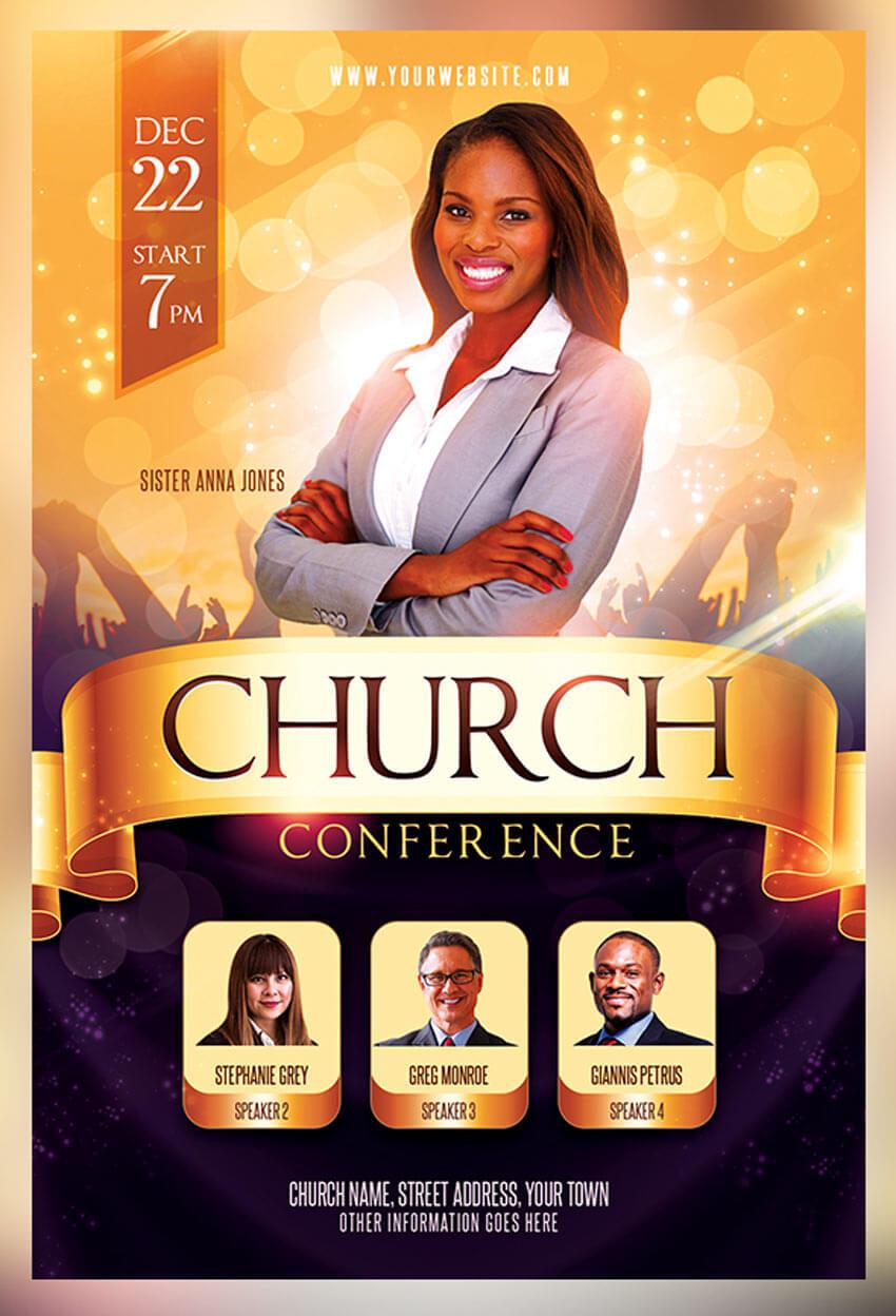 31 Best Church Flyer Templates (Psd & Indesign Flyer Templates) Inside Free Church Brochure Templates For Microsoft Word