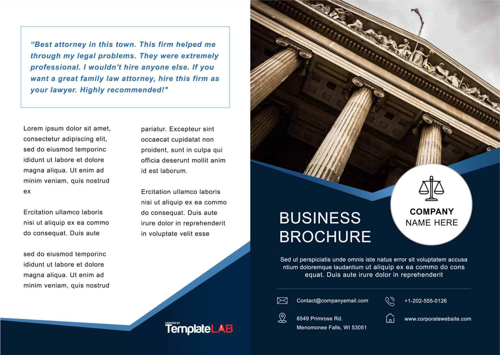 33 Free Brochure Templates (Word + Pdf) ᐅ Templatelab Inside Online Brochure Template Free
