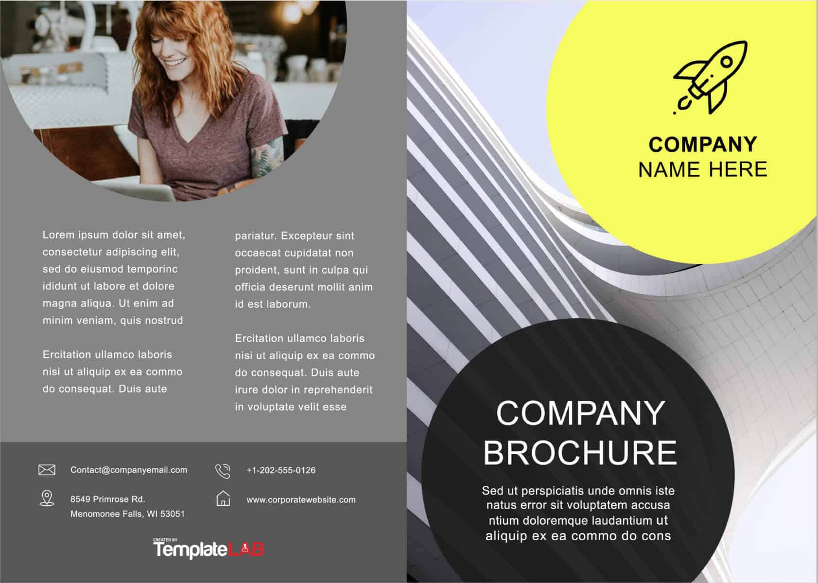 33 Free Brochure Templates (Word + Pdf) ᐅ Templatelab With Regard To Online Brochure Template Free