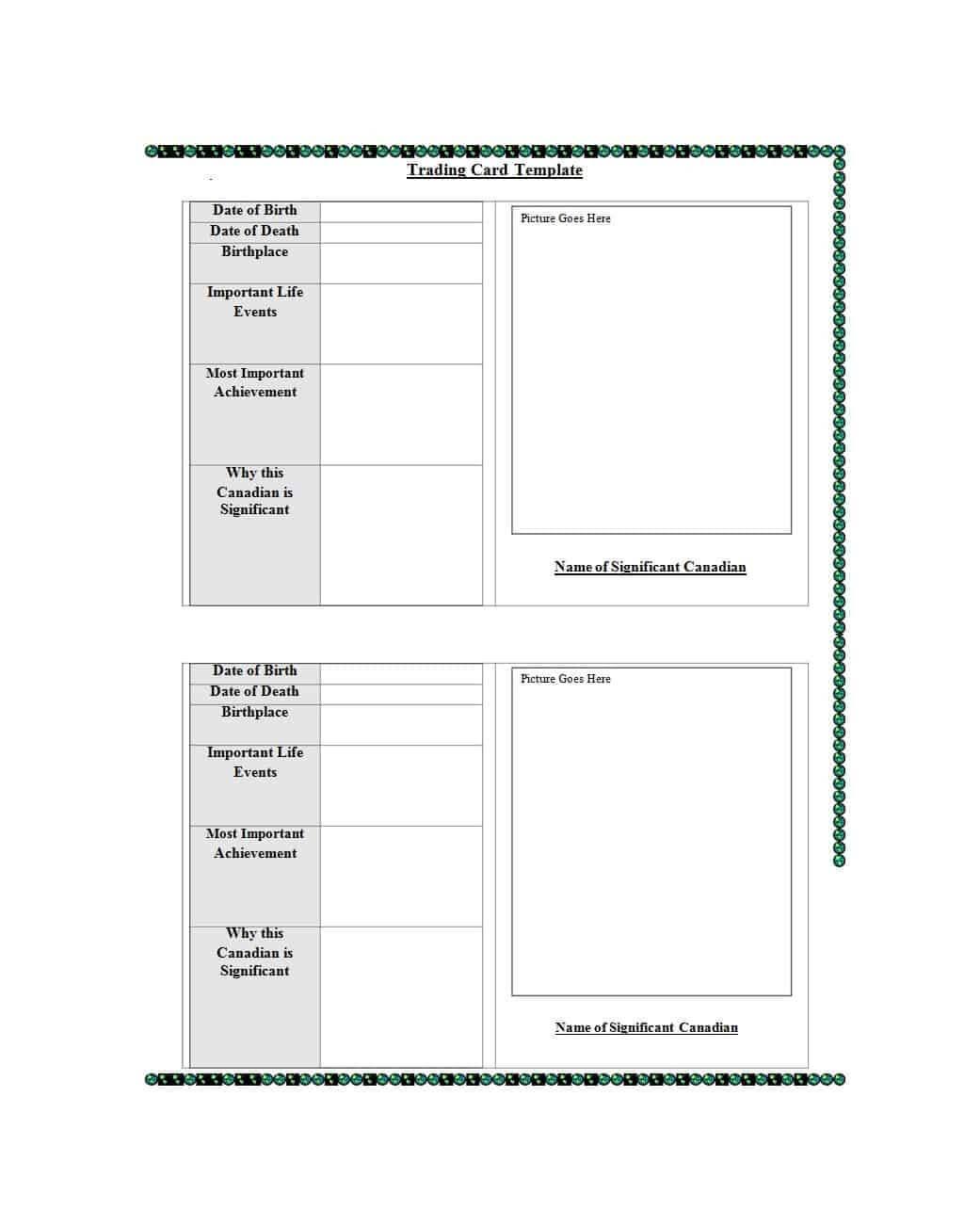 33 Free Trading Card Templates (Baseball, Football, Etc In Trading Card Template Word