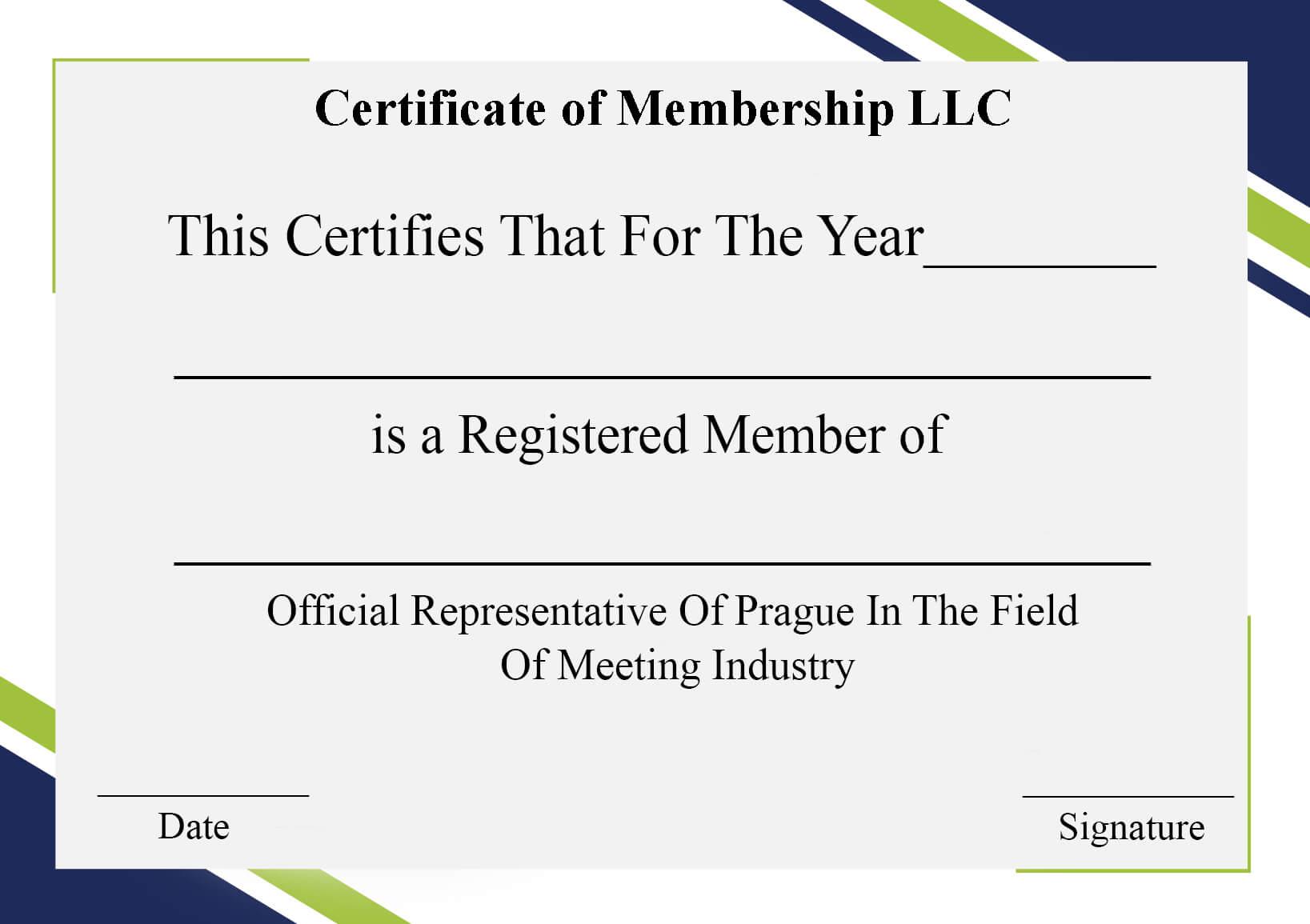 4+ Free Sample Certificate Of Membership Templates Intended For Llc Membership Certificate Template Word