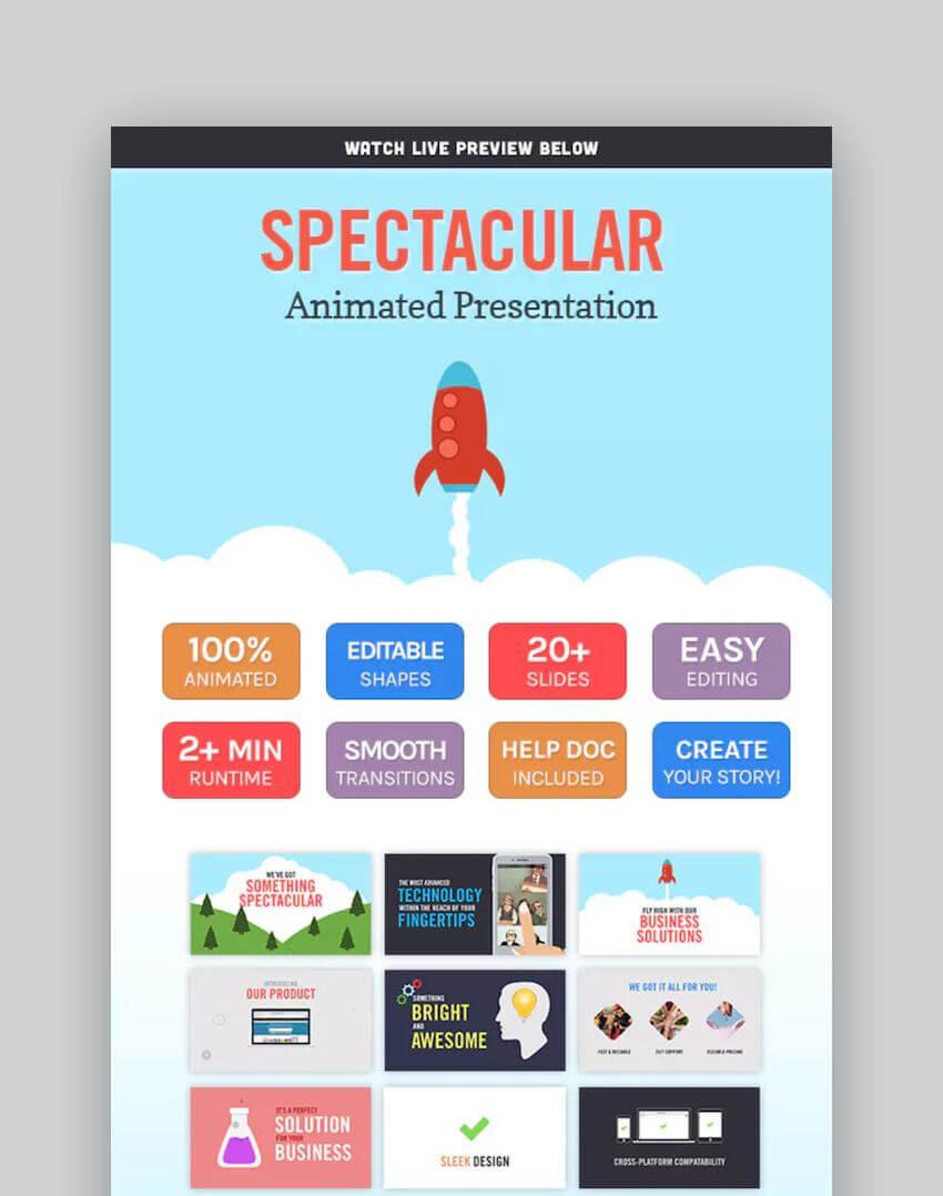 40+ Best Free & Premium Animated Powerpoint Templates With In Powerpoint Presentation Animation Templates