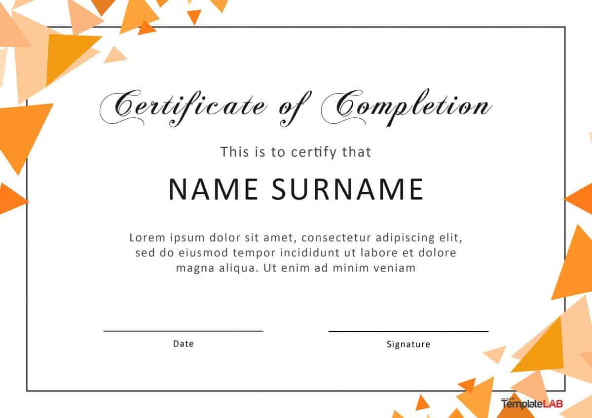 40 Fantastic Certificate Of Completion Templates [Word Throughout Free Student Certificate Templates
