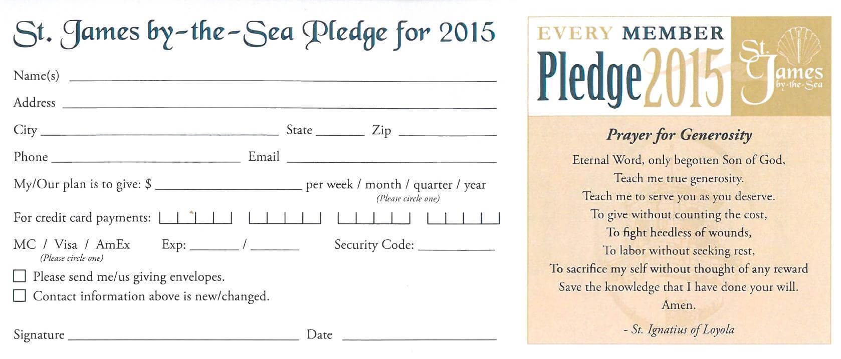 4570Book | Church Pledge Cards Clipart In Pack #4661 For Free Pledge Card Template