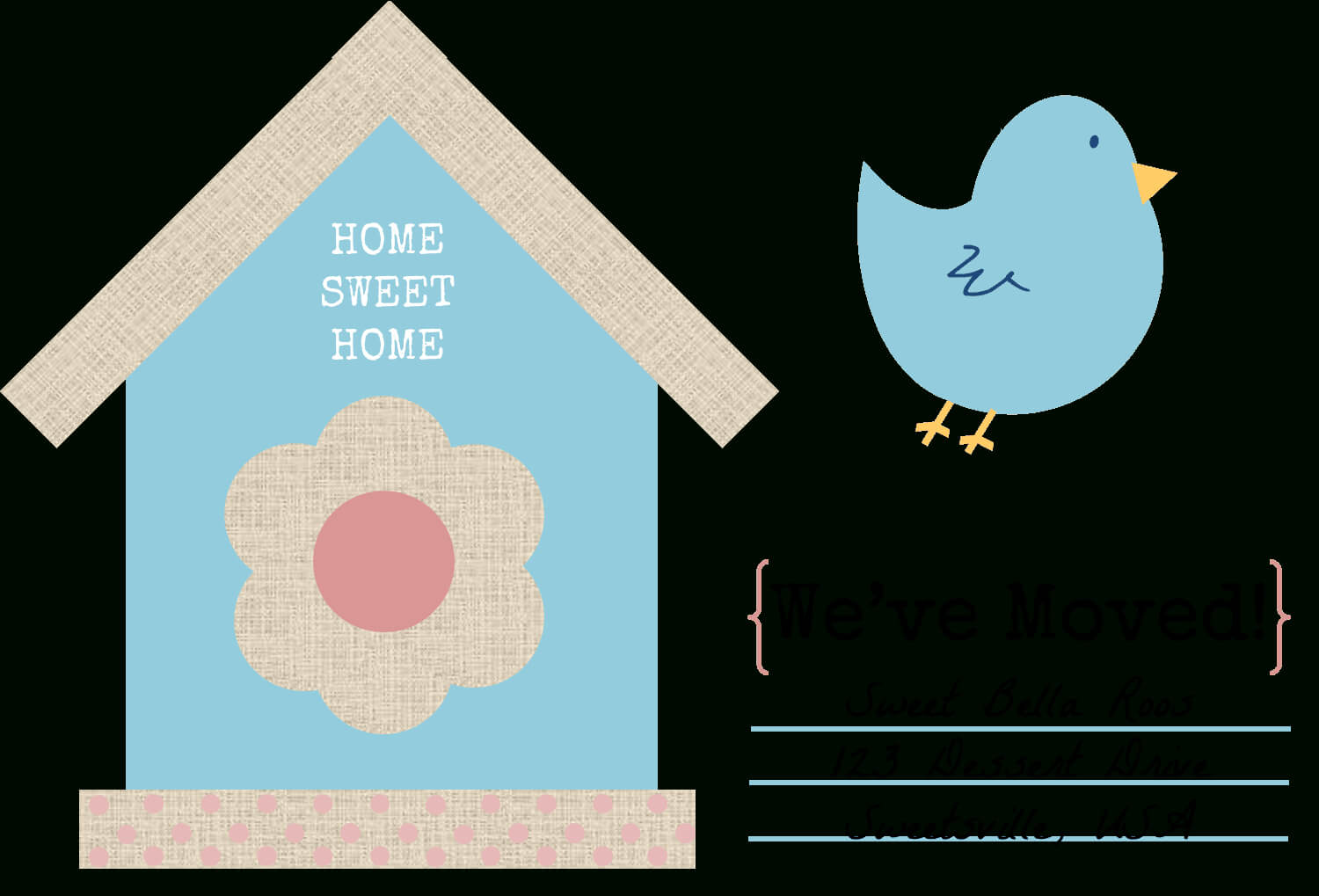 49 Free Change Of Address Cards (Moving Announcements) Inside Moving House Cards Template Free