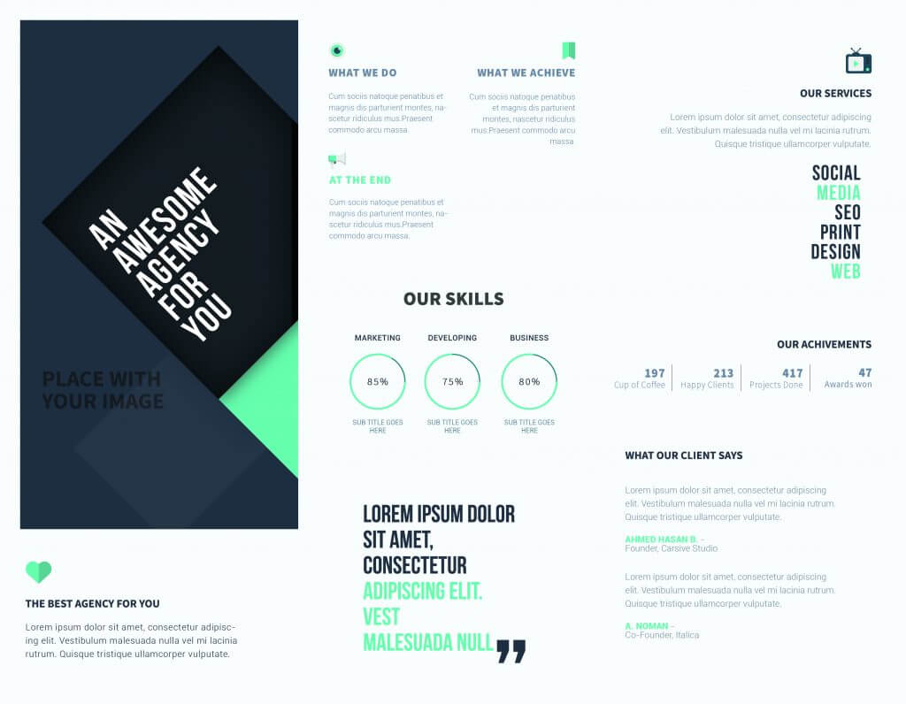 5 Free Online Brochure Templates To Create Your Own Brochure   Regarding Free Online Tri Fold Brochure Template