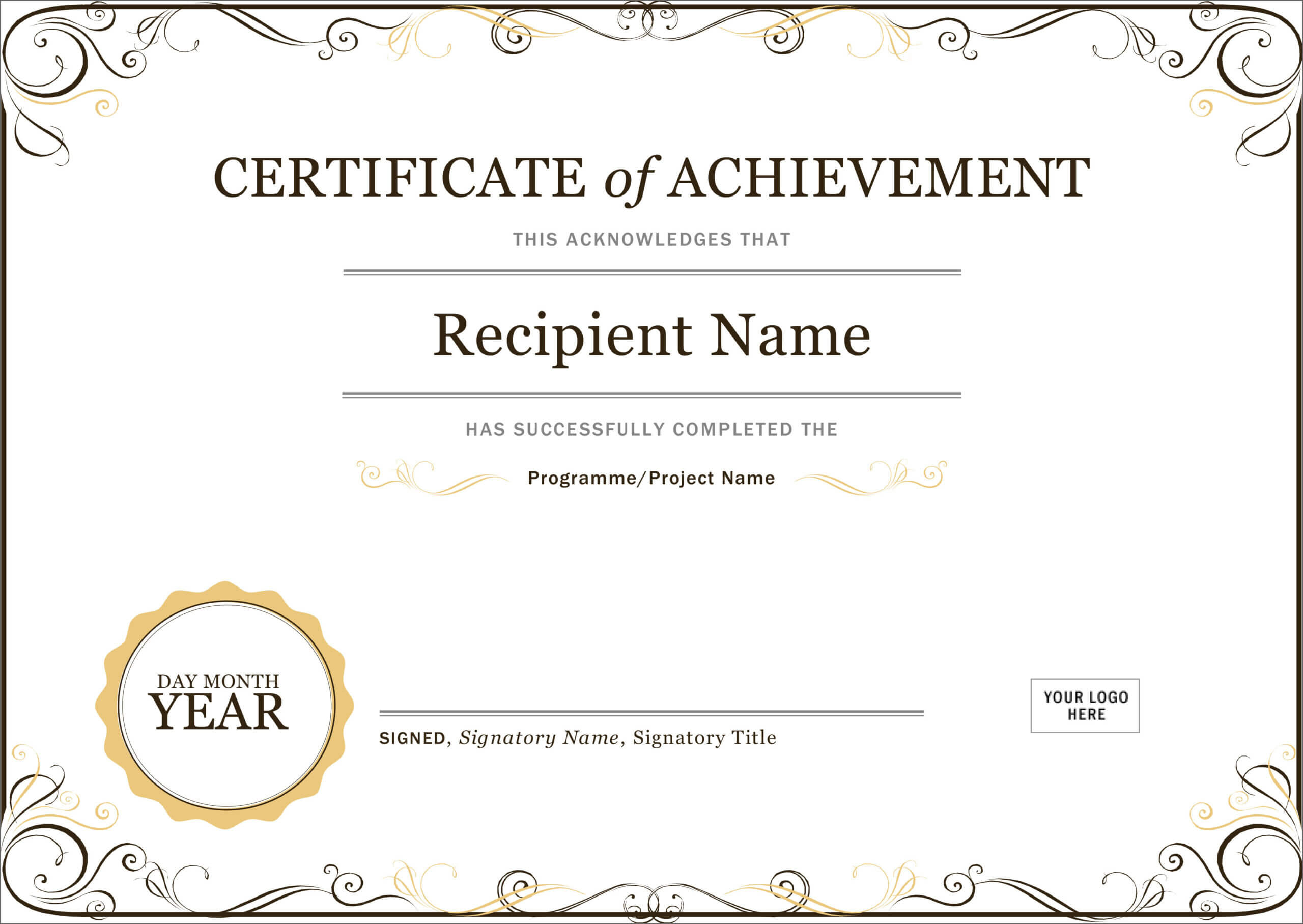 50 Free Creative Blank Certificate Templates In Psd Inside Manager Of The Month Certificate Template
