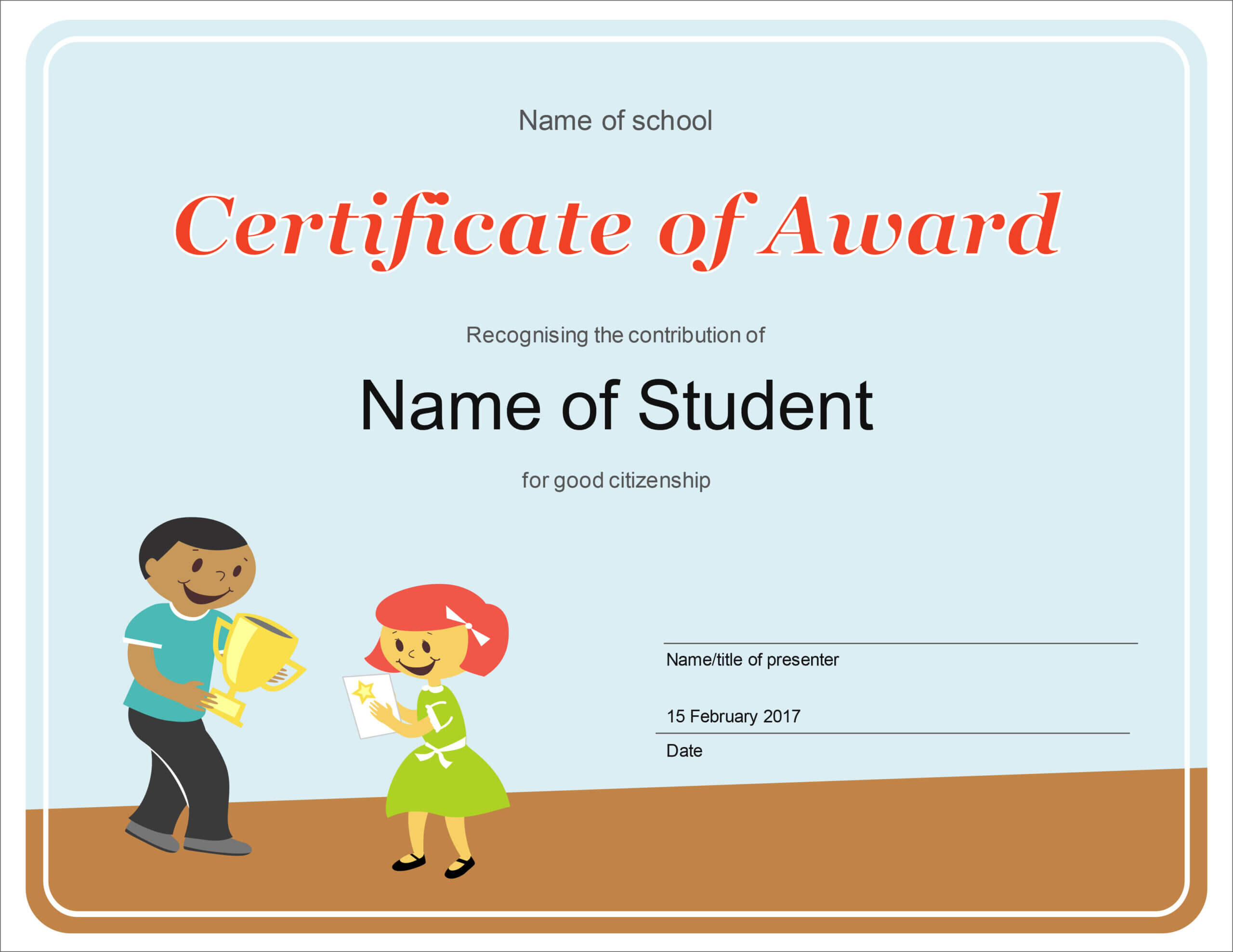50 Free Creative Blank Certificate Templates In Psd With Regard To Free Student Certificate Templates