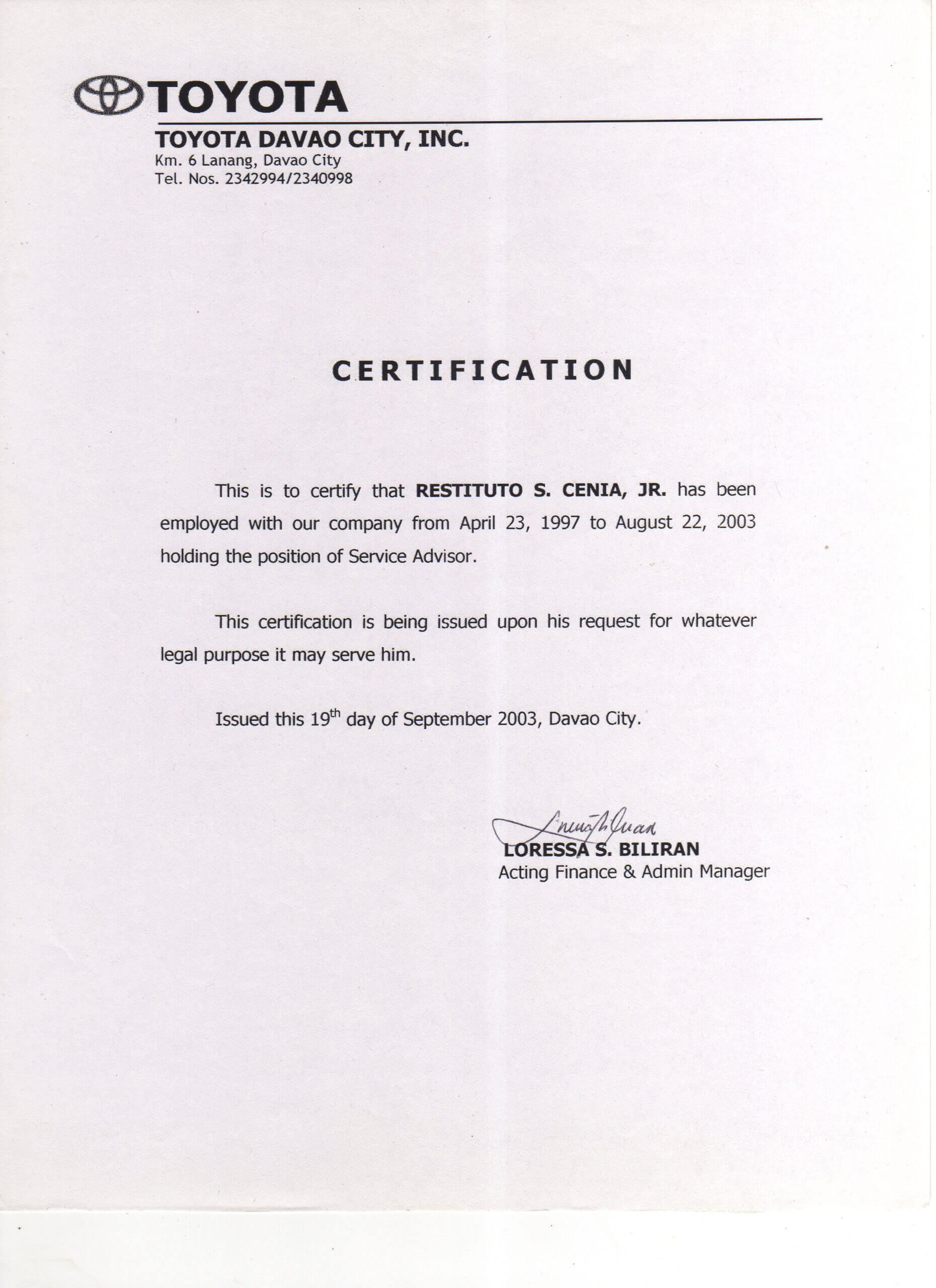 5563 Salary Certificate Letter Sample Certificatezet Within Sample Certificate Employment Template