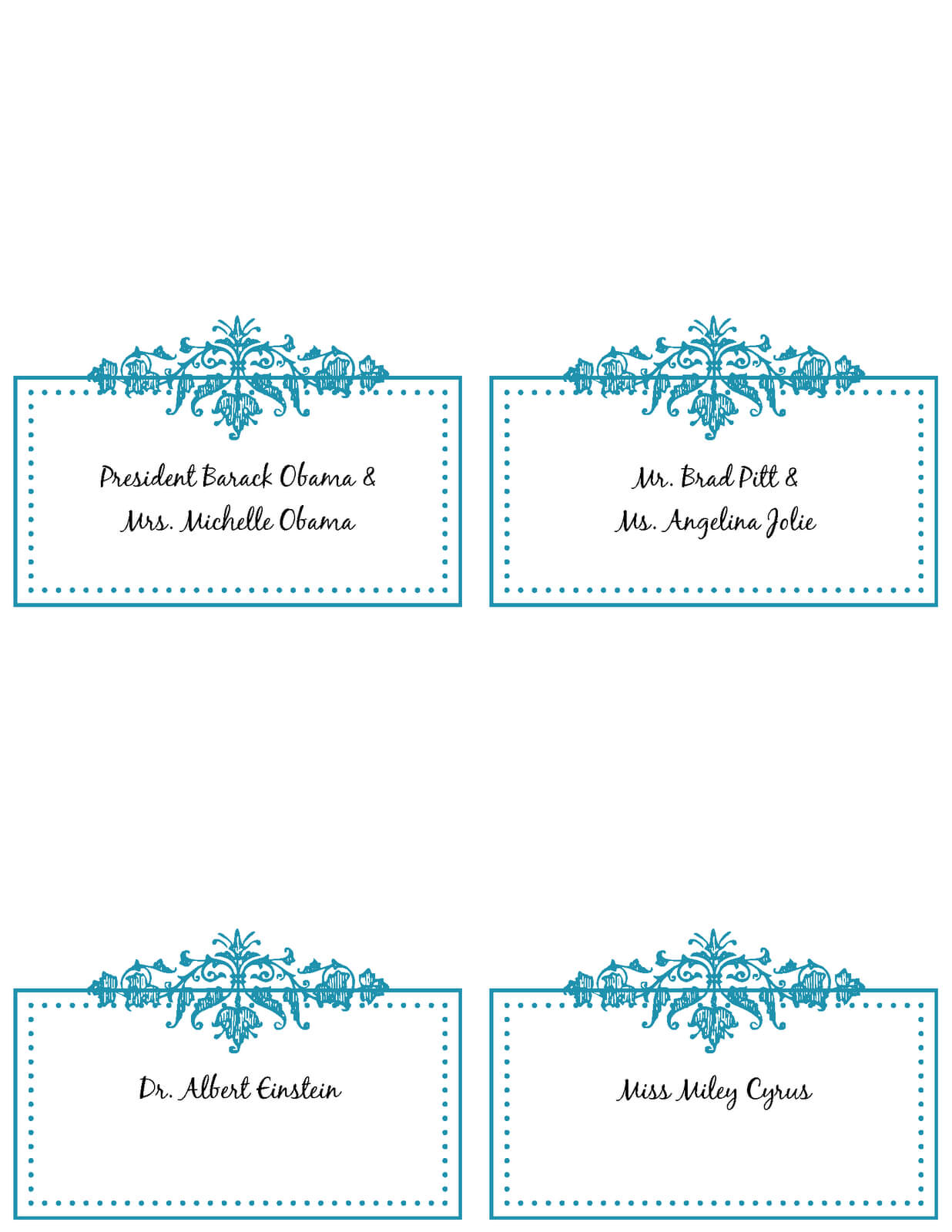 6 Best Images Of Free Printable Wedding Place Cards - Free Regarding Wedding Place Card Template Free Word