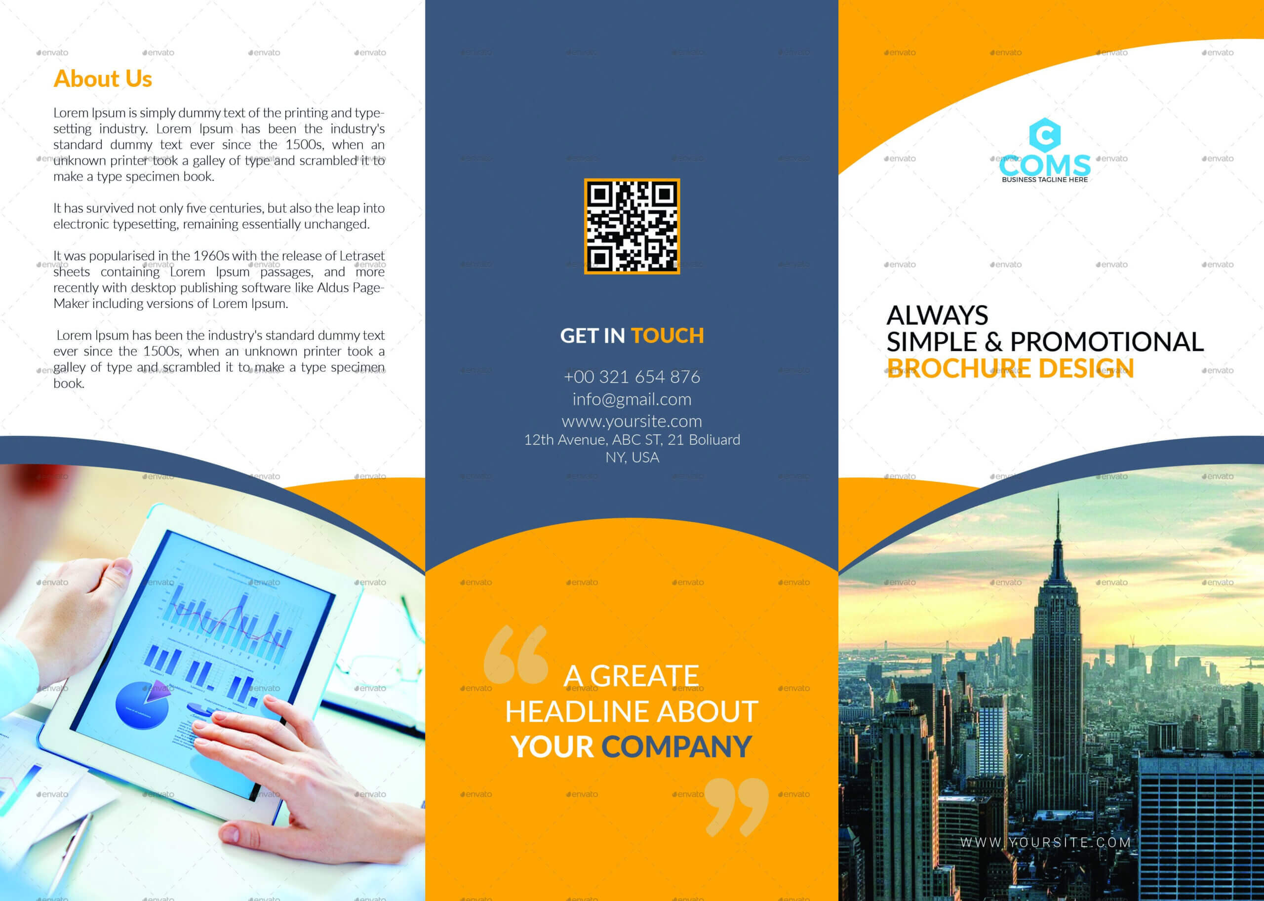 76+ Premium & Free Business Brochure Templates Psd To Intended For Single Page Brochure Templates Psd