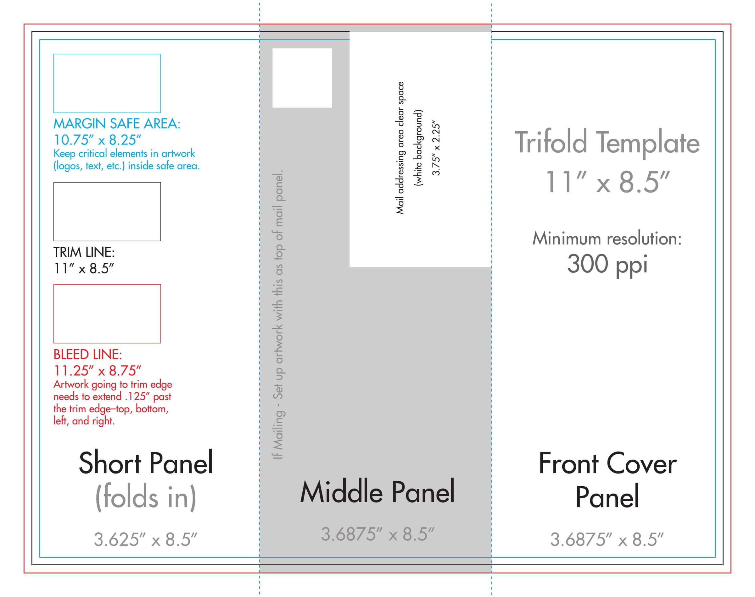 "8.5"" X 11"" Tri Fold Brochure Template - U.s. Press Regarding 8.5 X11 Brochure Template"