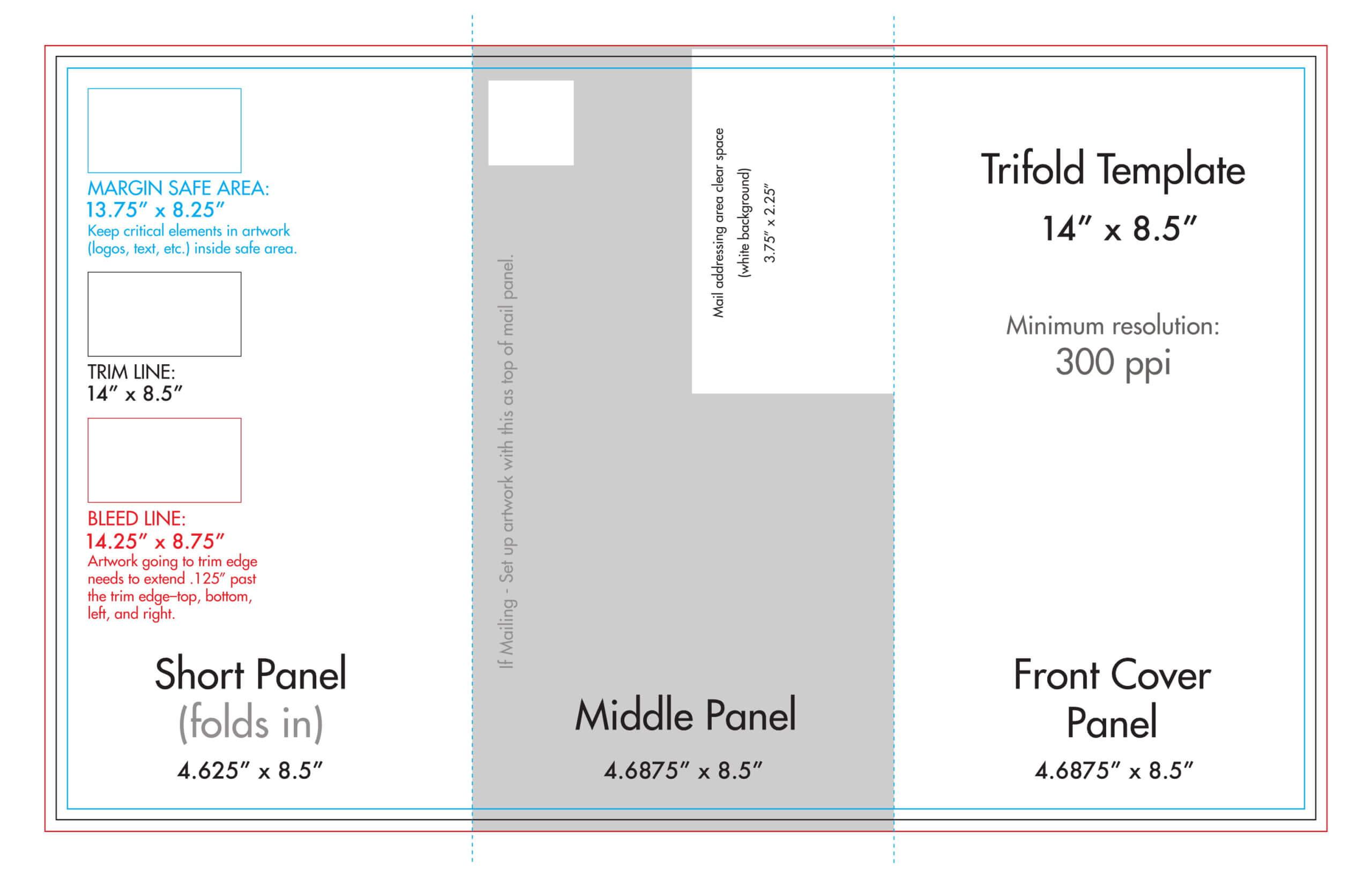 "8.5"" X 14"" Tri Fold Brochure Template - U.s. Press Inside 6 Sided Brochure Template"