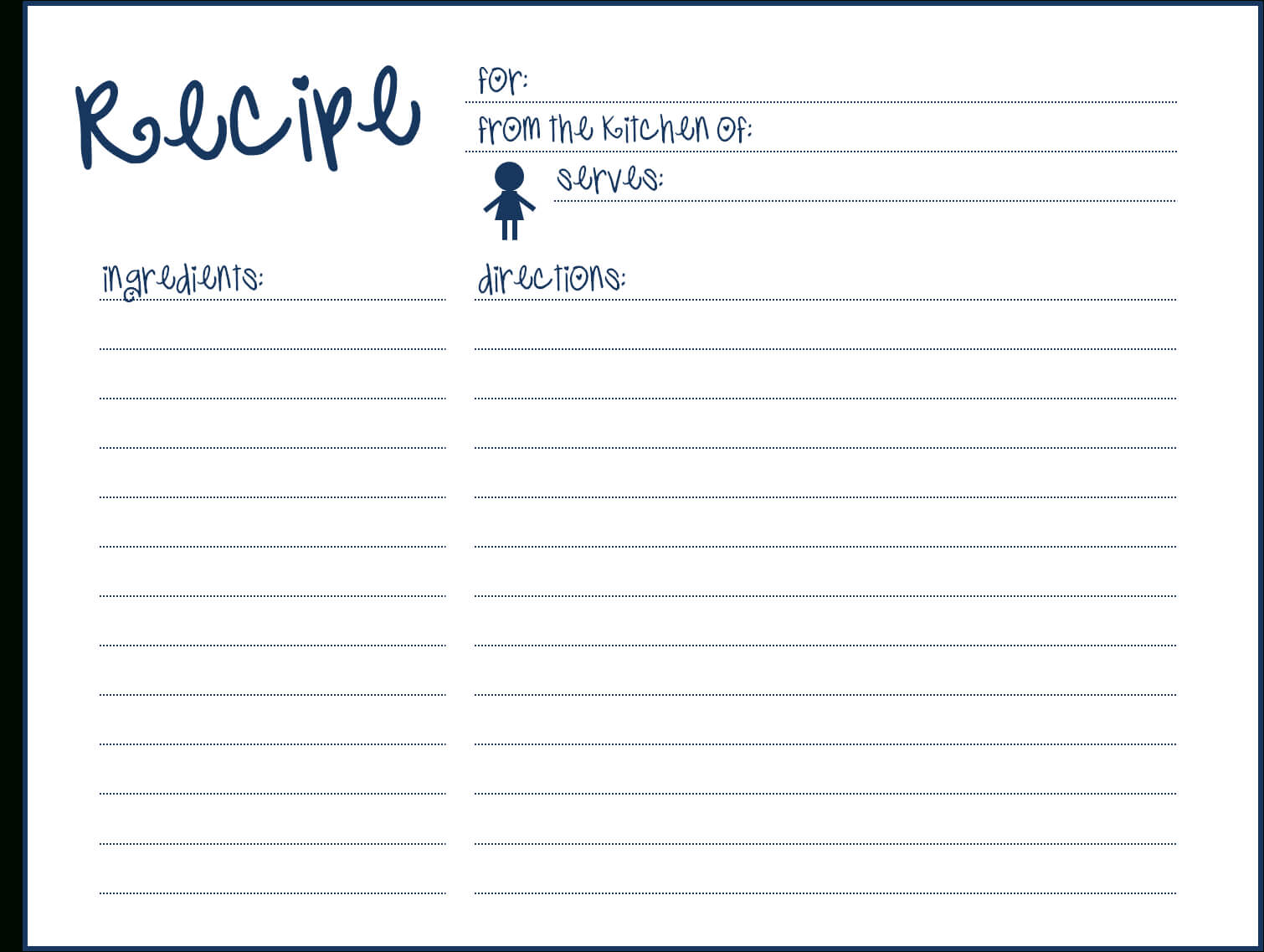 8 Free Recipe Card Templates Excel Pdf Formats Here Are My Pertaining To Word Template For 3X5 Index Cards