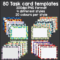 80 Task Card Templates – Teacha! Regarding Task Card Template