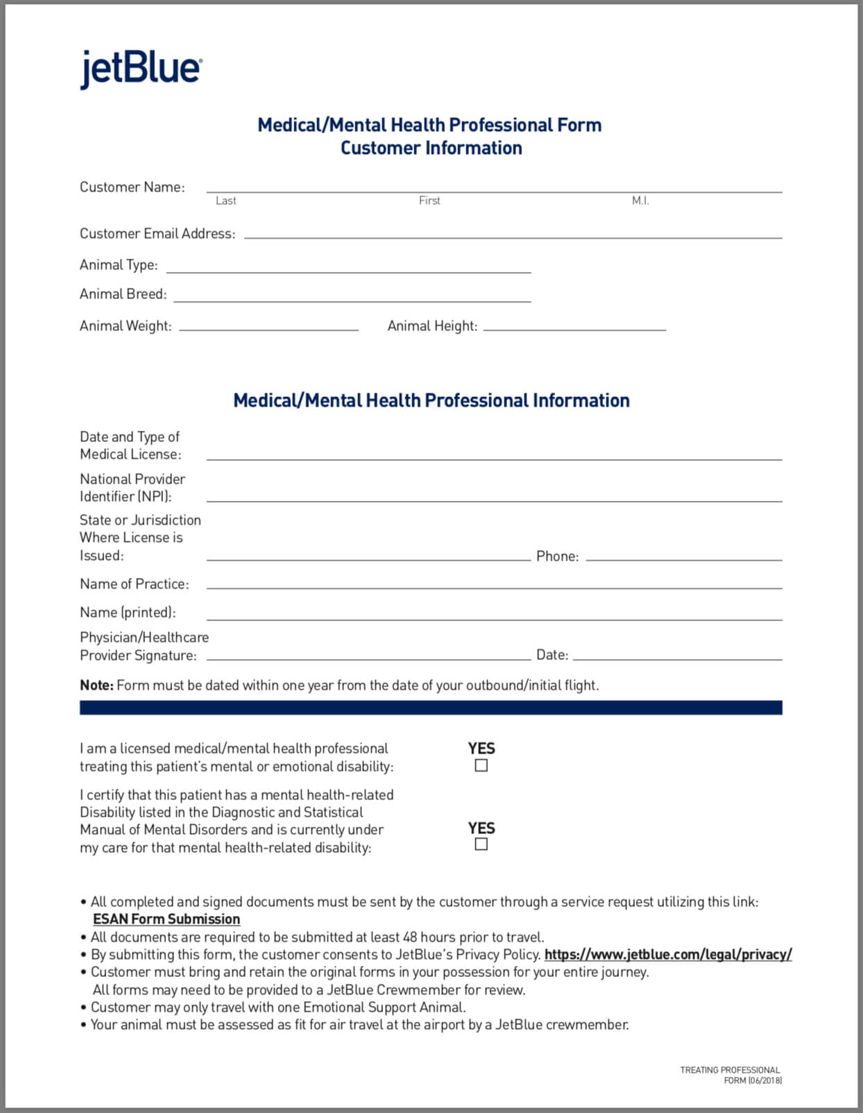 Airline Requirements For Traveling With An Emotional Support For Fit To Fly Certificate Template