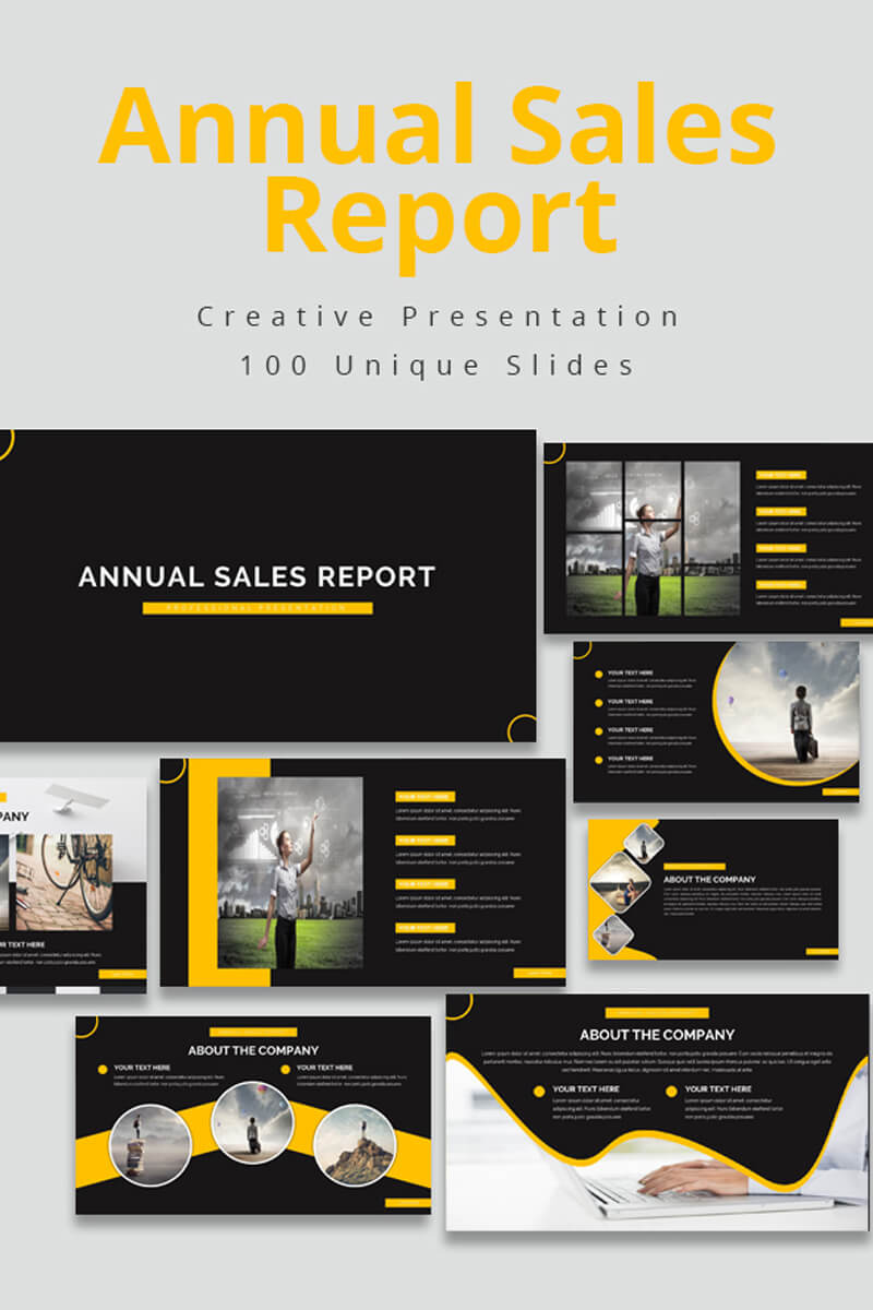 Annual Sales Report Powerpoint Template With Regard To Sales Report Template Powerpoint
