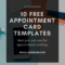 Appointment Card Template: 10 Free Resources For Small pertaining to Medical Appointment Card Template Free