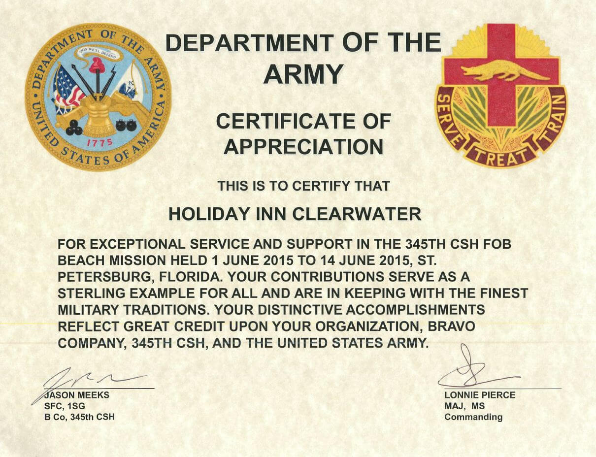 Army Certificate Of Appreciation Example – Dalep.midnightpig.co In Army Certificate Of Appreciation Template