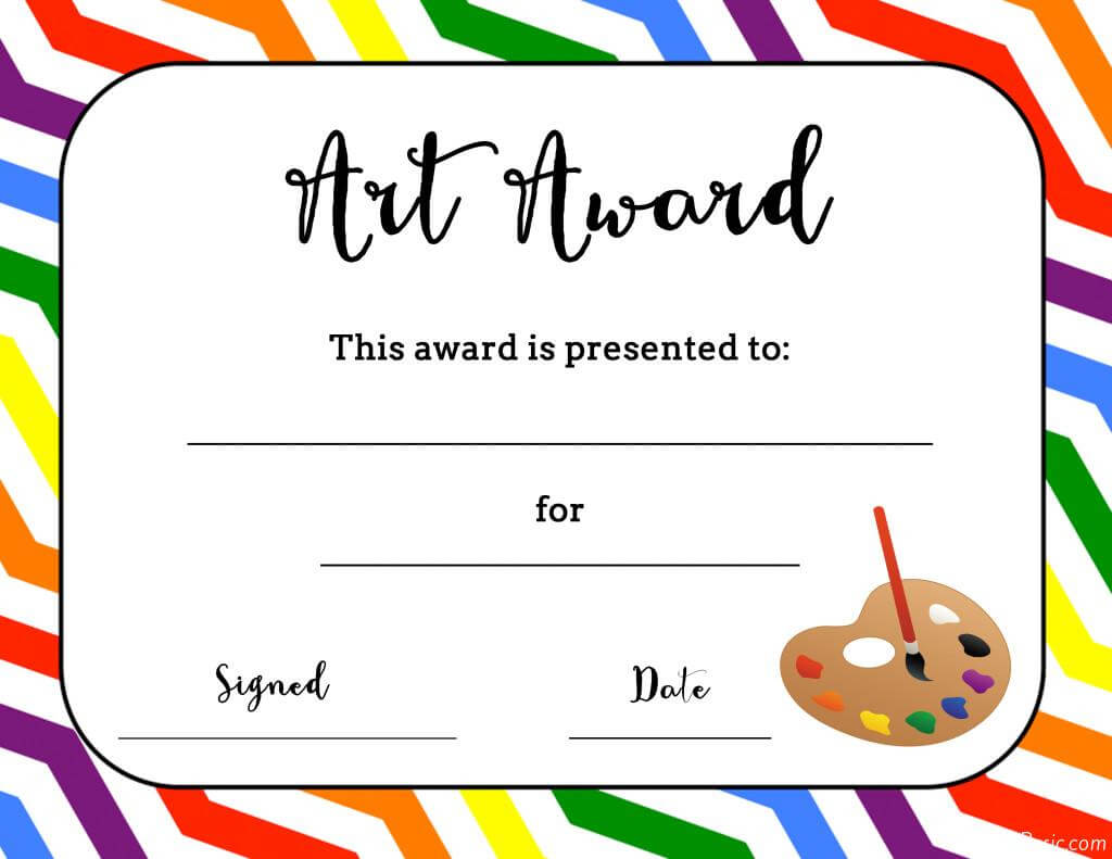 Art Temlates Student Certificate Awards Printable For Art Certificate Template Free