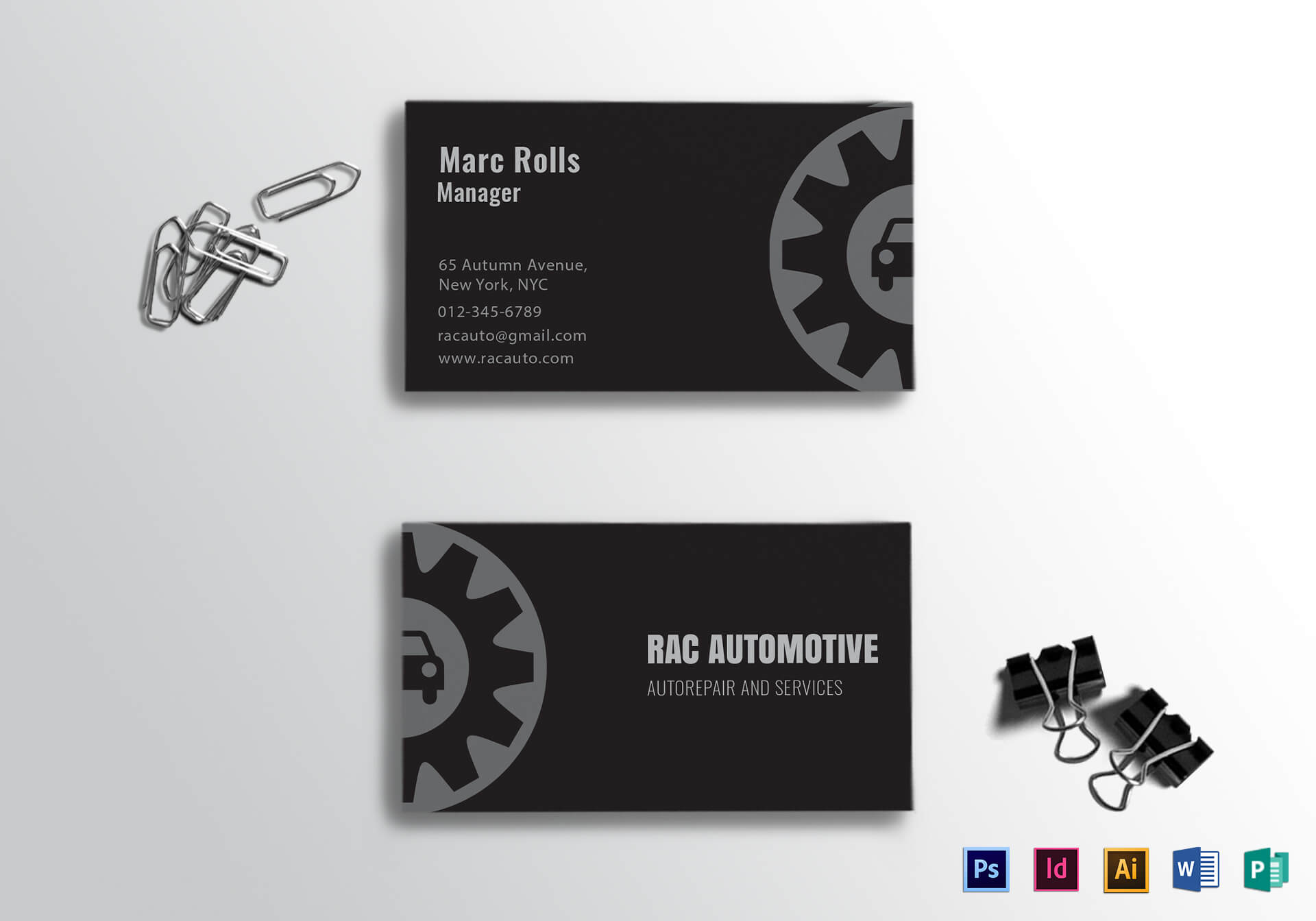 Automotive Business Card Template Intended For Automotive Business Card Templates