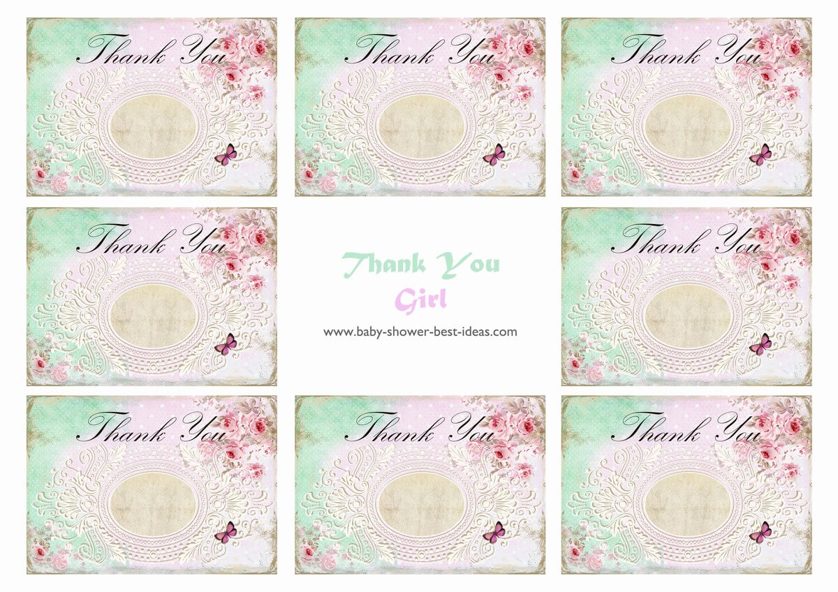 Baby Shower Thank You Cards Free Printable - Calep Within Thank You Card Template For Baby Shower