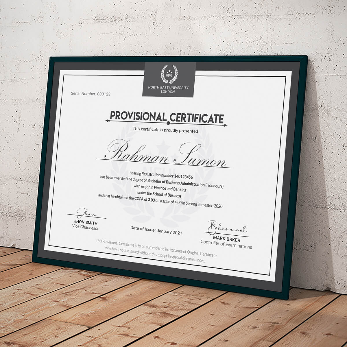 Bachelors Degree Certificates Templates – Ardusat With Regard To Novelty Birth Certificate Template