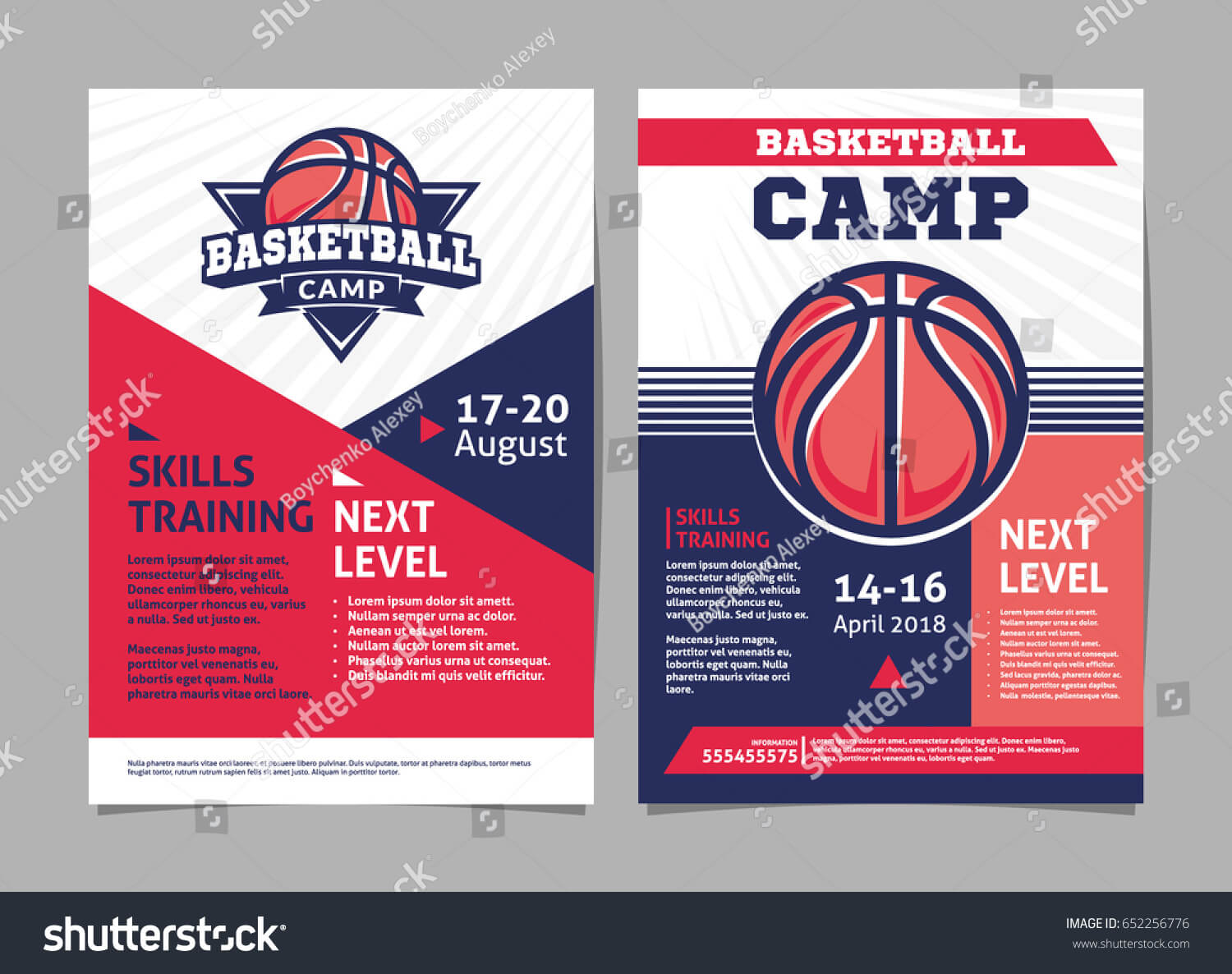 Basketball Camp Posters Flyer Basketball Ball In Basketball Camp Brochure Template