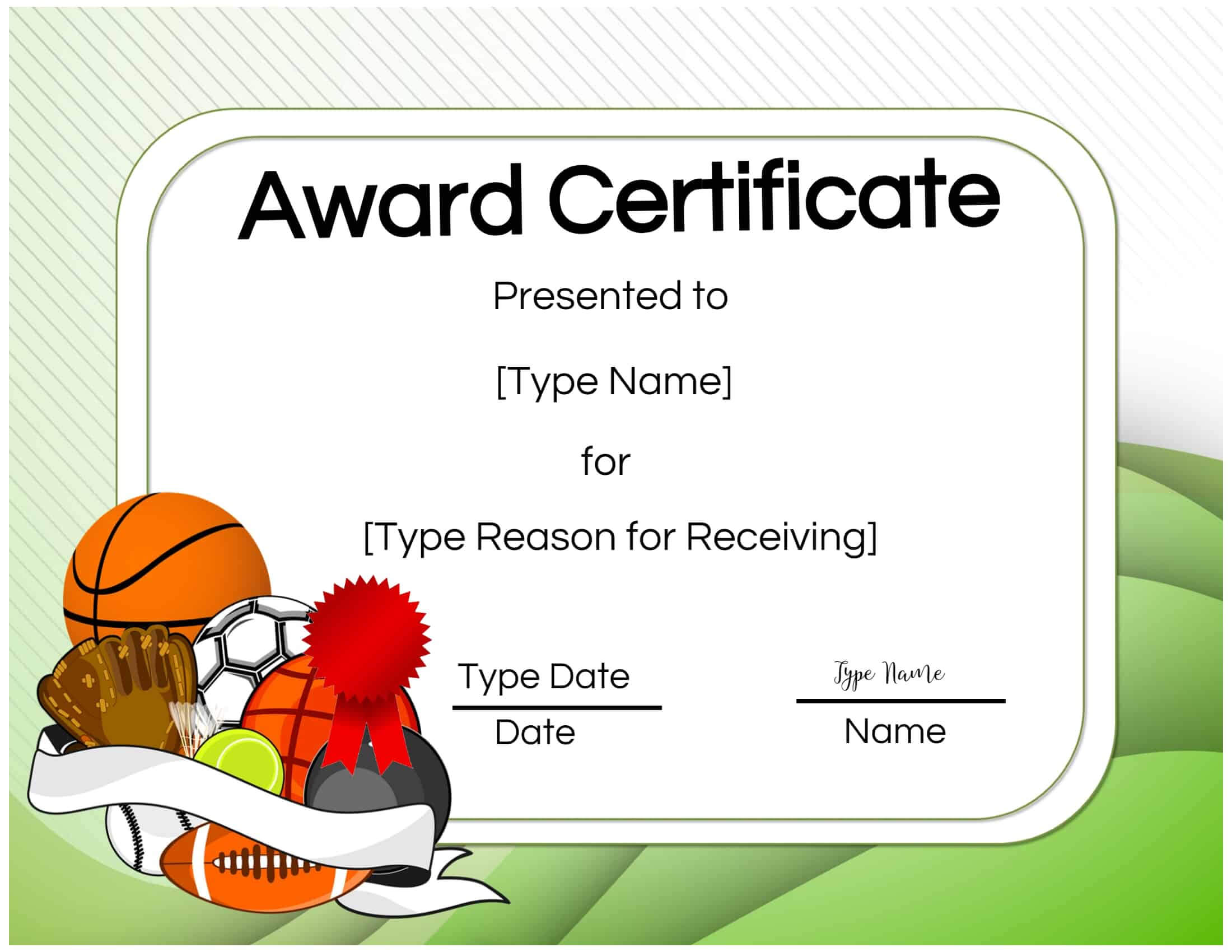 Basketball Certificates With Sports Award Certificate Template Word
