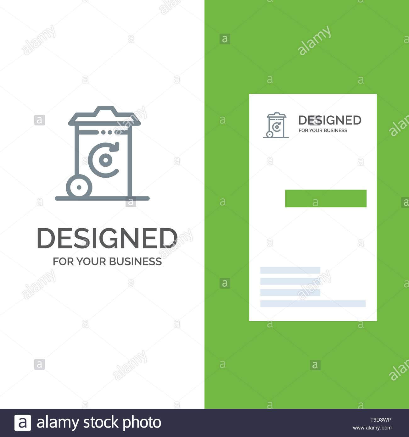 Bin, Recycling, Energy, Recycil Bin Grey Logo Design And Intended For Bin Card Template