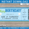 Birthday Golf Gift Tickets Pertaining To Golf Gift Certificate Template