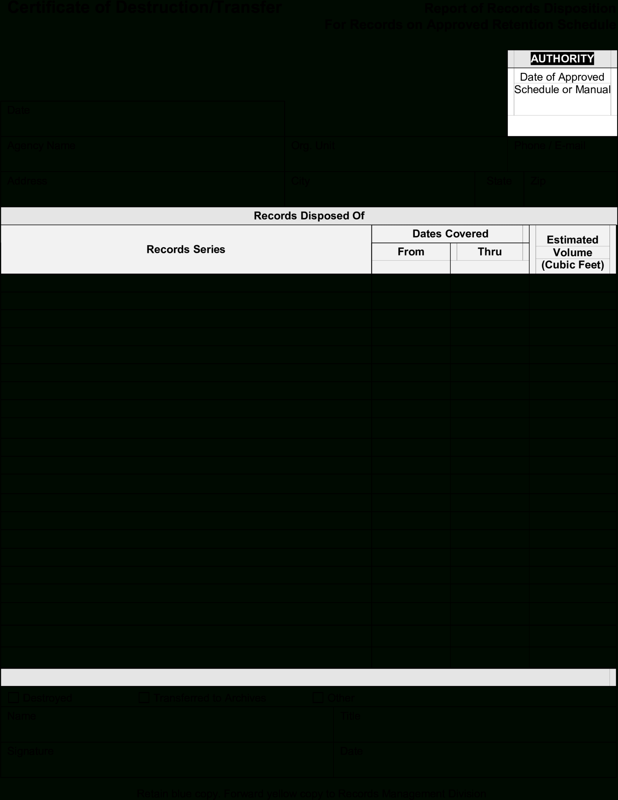 Blank Certificate Template Png – Blank Certificate Of Regarding Free Certificate Of Destruction Template