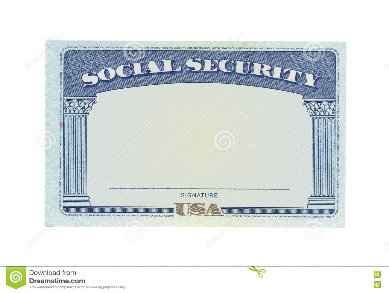 Blank Social Security Card Template Download - Great Regarding Blank Social Security Card Template Download
