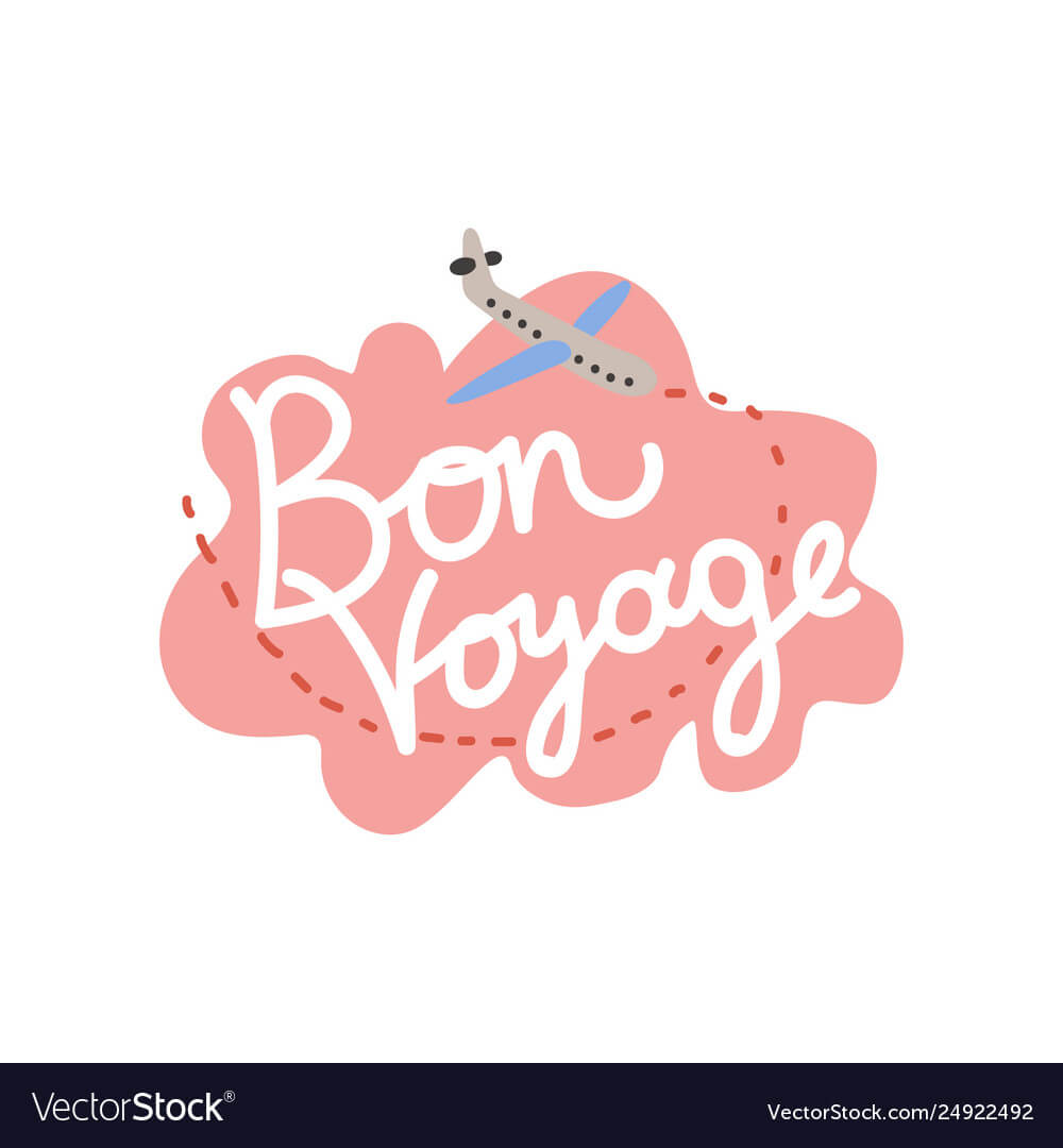 Bon Voyage Have Nice Trip Banner Template With Bon Voyage Card Template